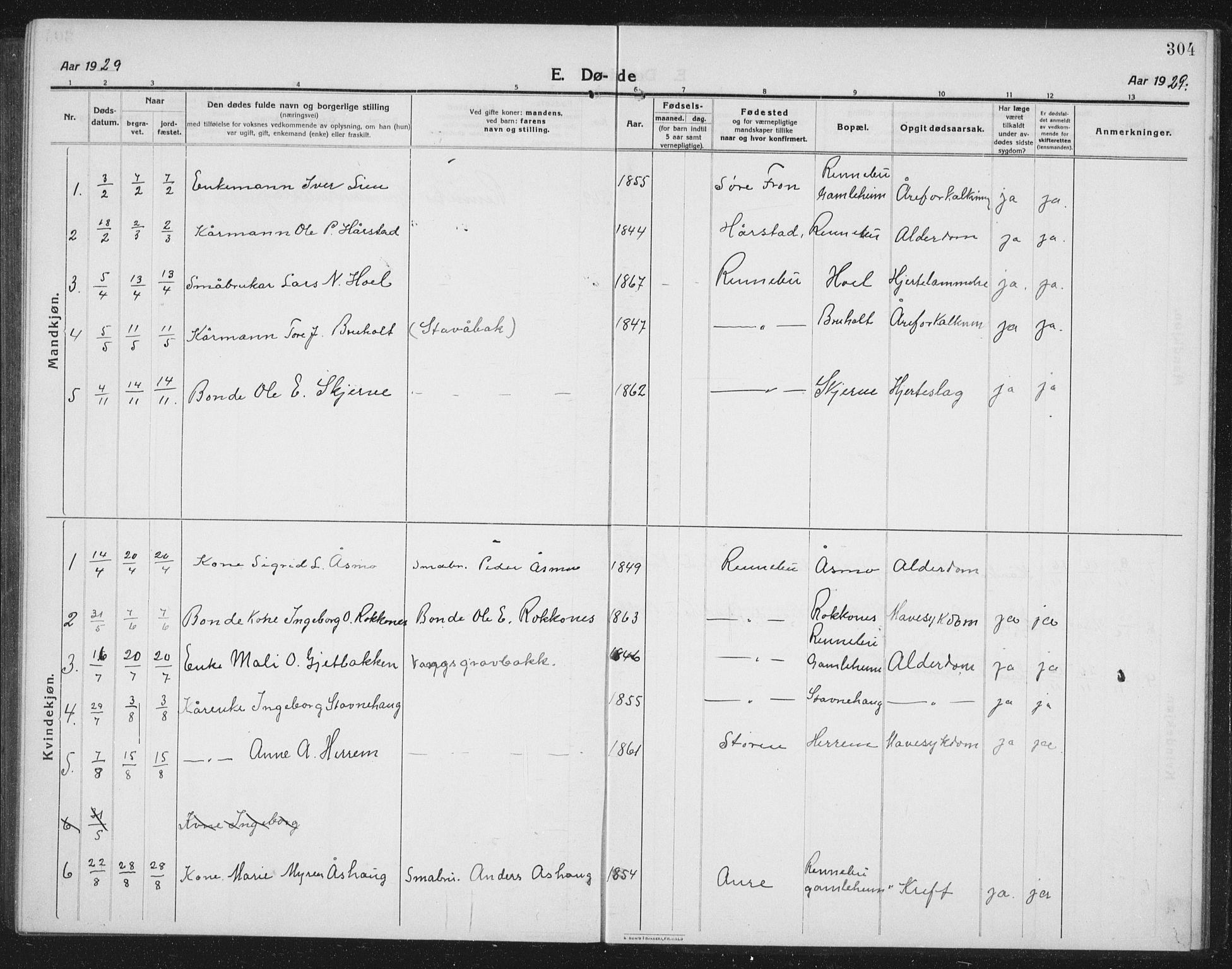 SAT, Ministerialprotokoller, klokkerbøker og fødselsregistre - Sør-Trøndelag, 674/L0877: Klokkerbok nr. 674C04, 1913-1940, s. 304