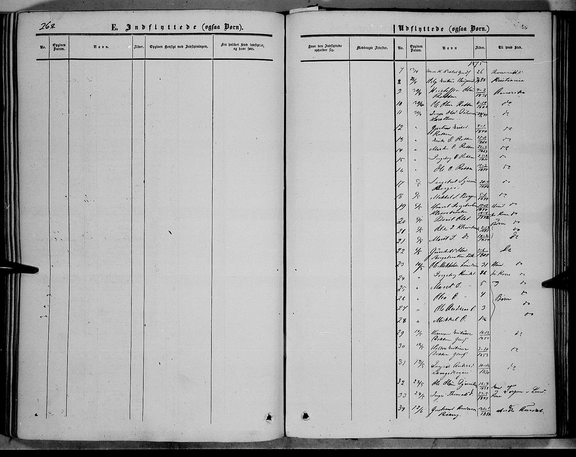 SAH, Sør-Aurdal prestekontor, Ministerialbok nr. 5, 1849-1876, s. 262