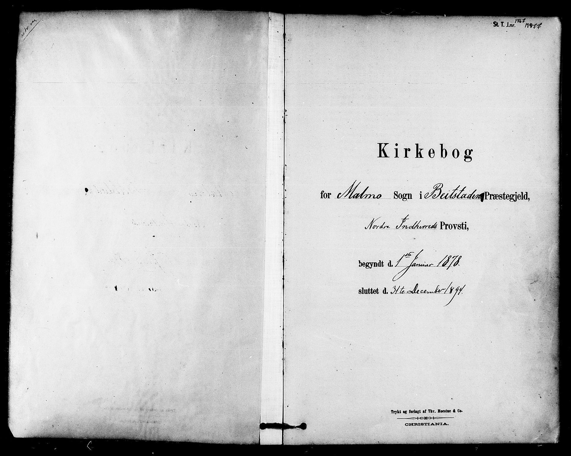 SAT, Ministerialprotokoller, klokkerbøker og fødselsregistre - Nord-Trøndelag, 745/L0429: Ministerialbok nr. 745A01, 1878-1894