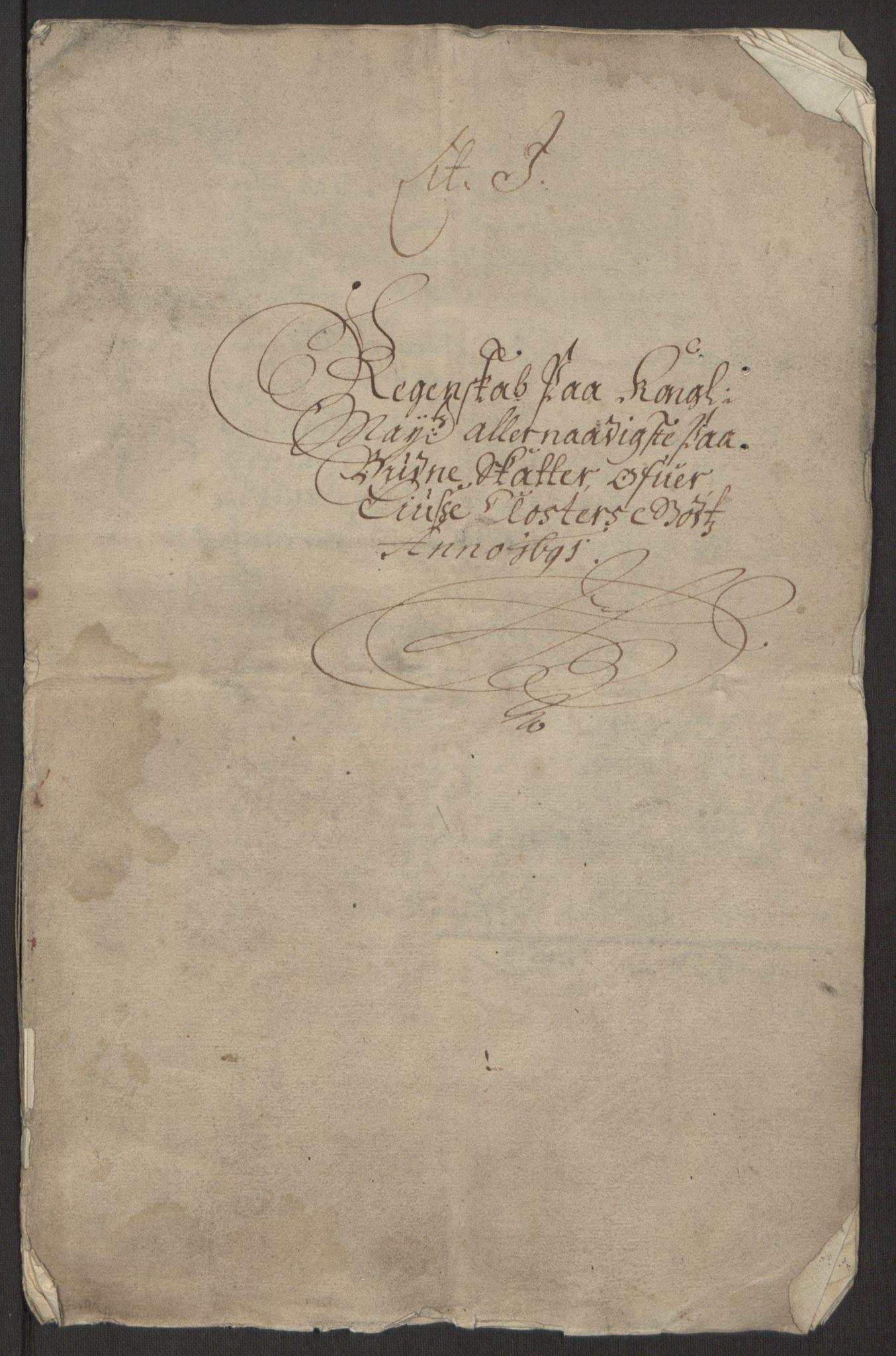 RA, Rentekammeret inntil 1814, Reviderte regnskaper, Fogderegnskap, R50/L3159: Fogderegnskap Lyse kloster, 1691-1709, s. 4