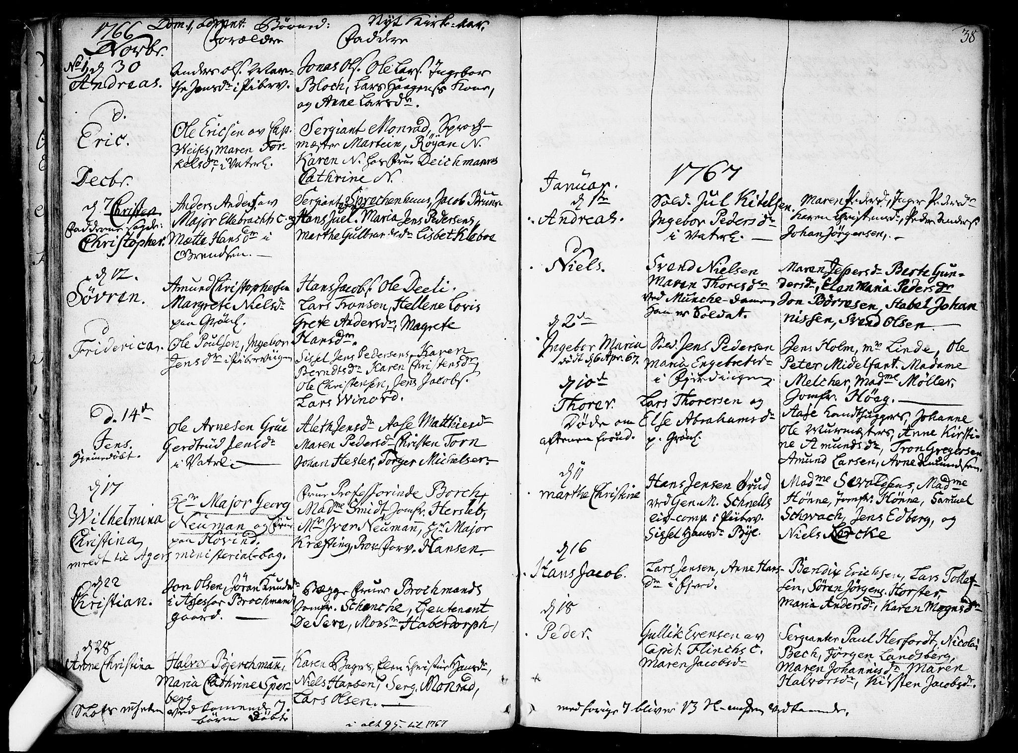 SAO, Garnisonsmenigheten Kirkebøker, F/Fa/L0002: Ministerialbok nr. 2, 1757-1776, s. 38