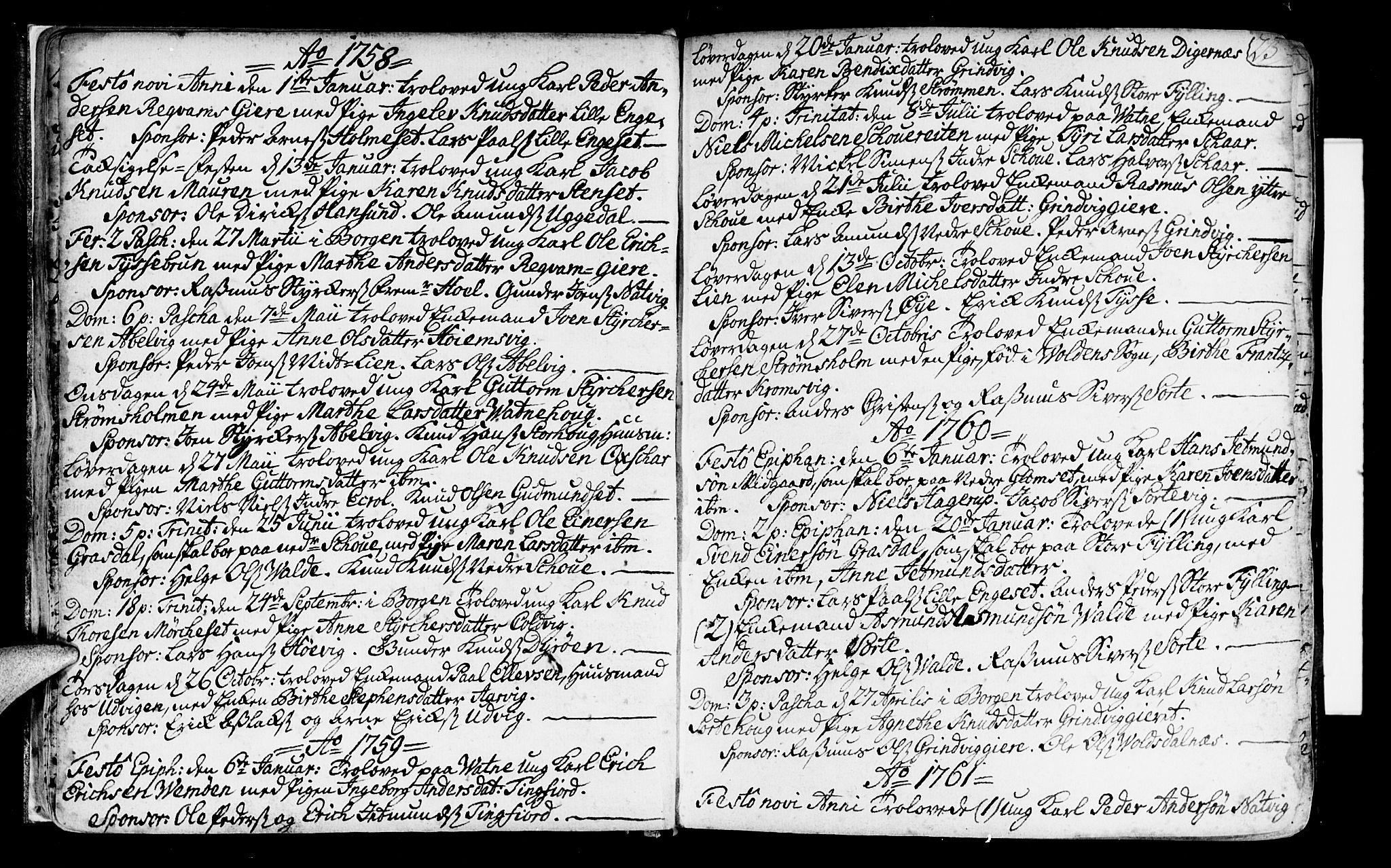 SAT, Ministerialprotokoller, klokkerbøker og fødselsregistre - Møre og Romsdal, 524/L0349: Ministerialbok nr. 524A01, 1698-1779, s. 23