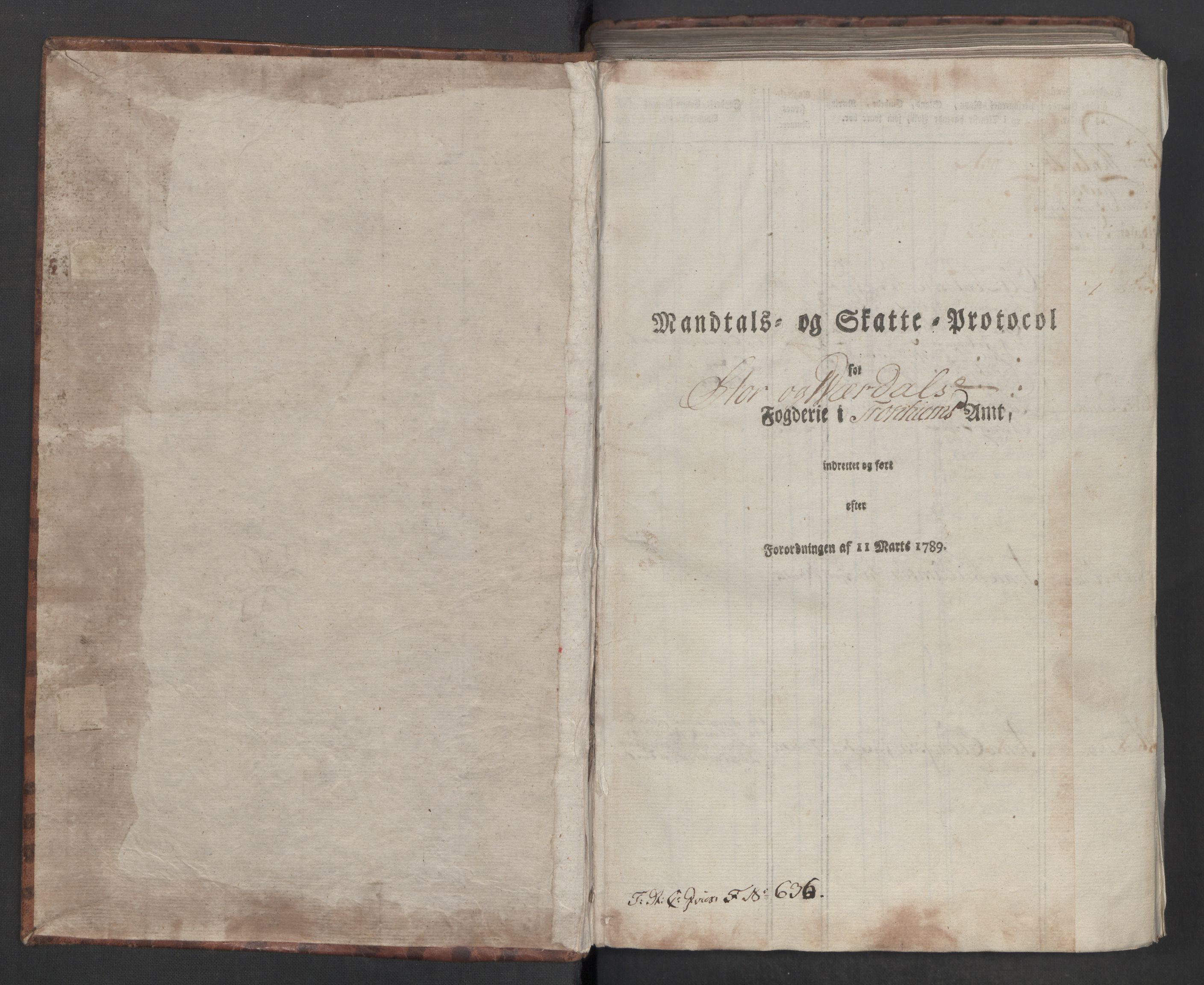RA, Rentekammeret inntil 1814, Reviderte regnskaper, Mindre regnskaper, Rf/Rfe/L0046: Stjørdal og Verdal fogderi, 1789, s. 4