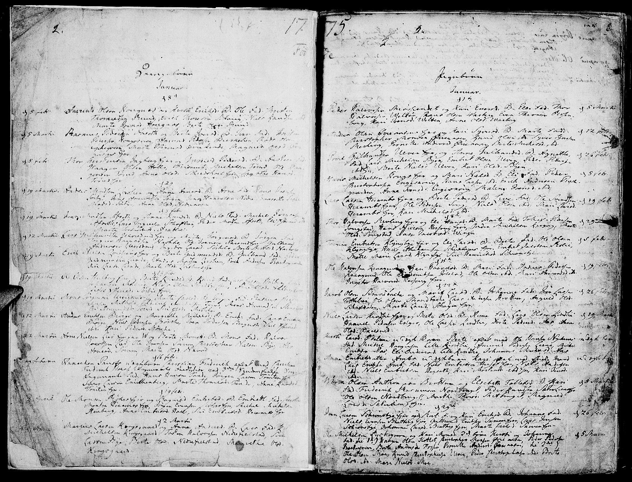 SAH, Ringsaker prestekontor, K/Ka/L0003: Ministerialbok nr. 3, 1775-1798, s. 2-3