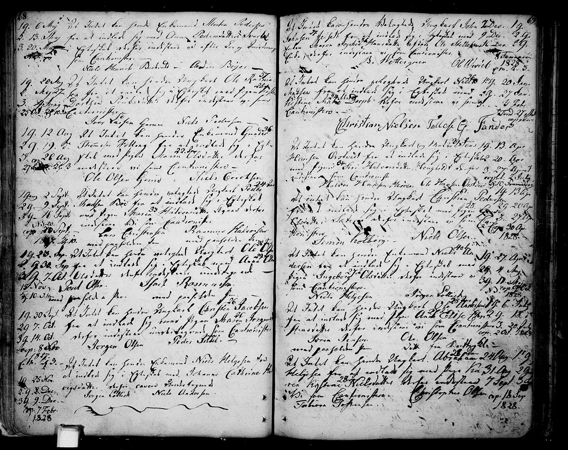 SAKO, Skien kirkebøker, F/Fa/L0004: Ministerialbok nr. 4, 1792-1814, s. 68-69