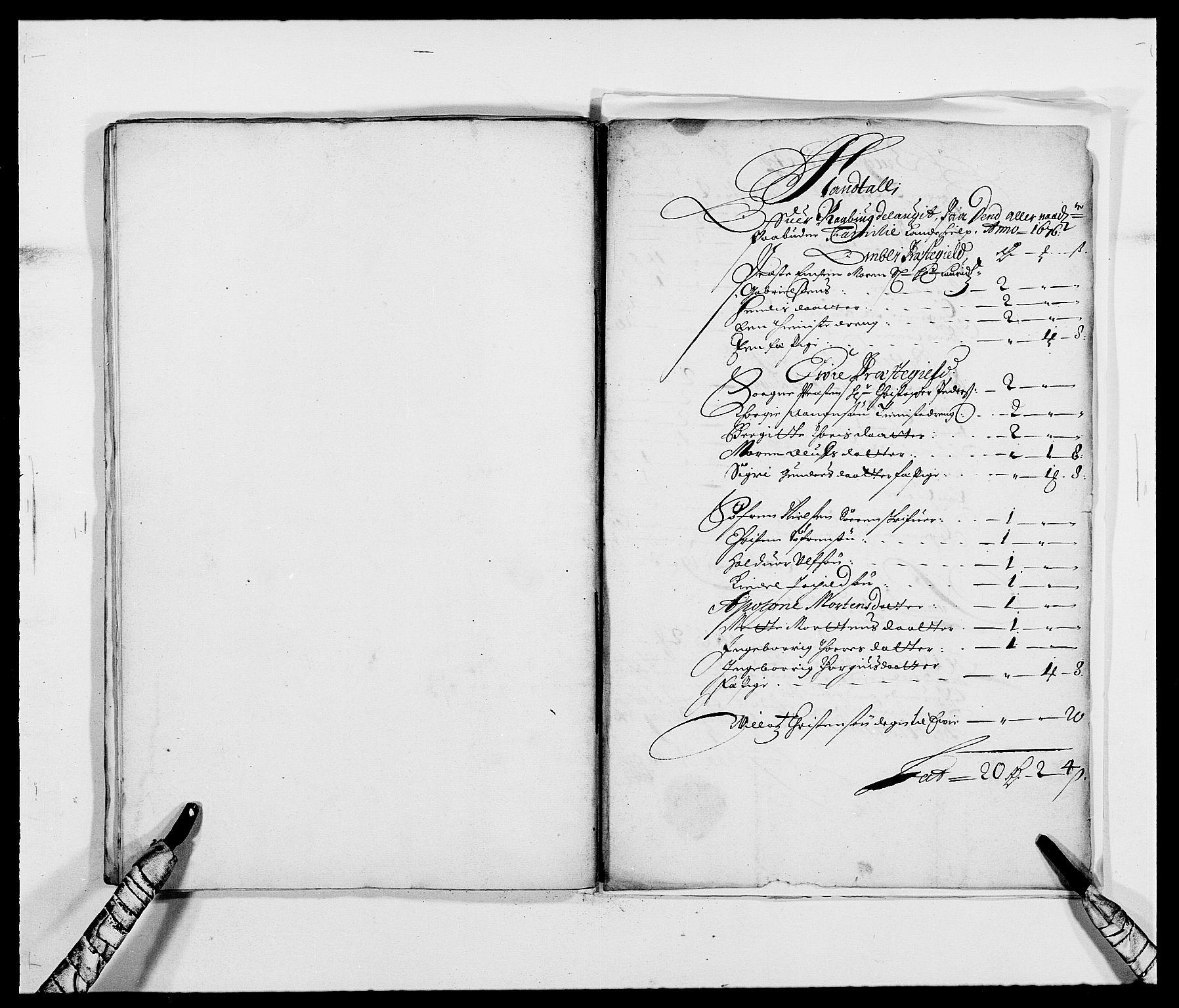 RA, Rentekammeret inntil 1814, Reviderte regnskaper, Fogderegnskap, R40/L2434: Fogderegnskap Råbyggelag, 1675-1676, s. 390