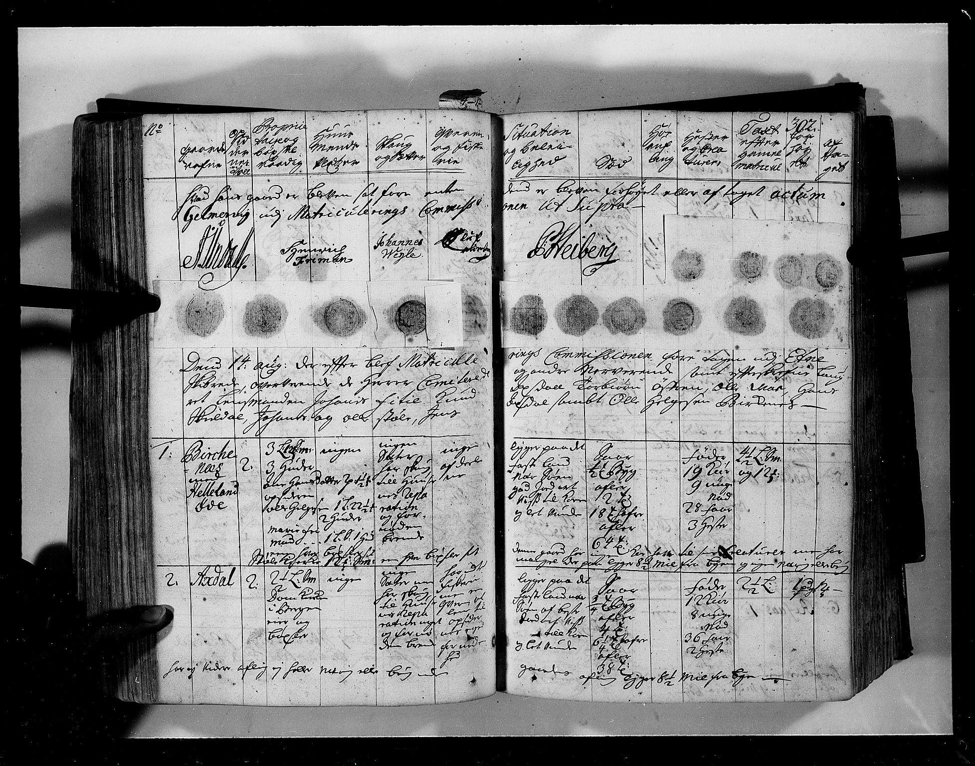 RA, Rentekammeret inntil 1814, Realistisk ordnet avdeling, N/Nb/Nbf/L0134: Sunnhordland eksaminasjonsprotokoll, 1723, s. 301b-302a