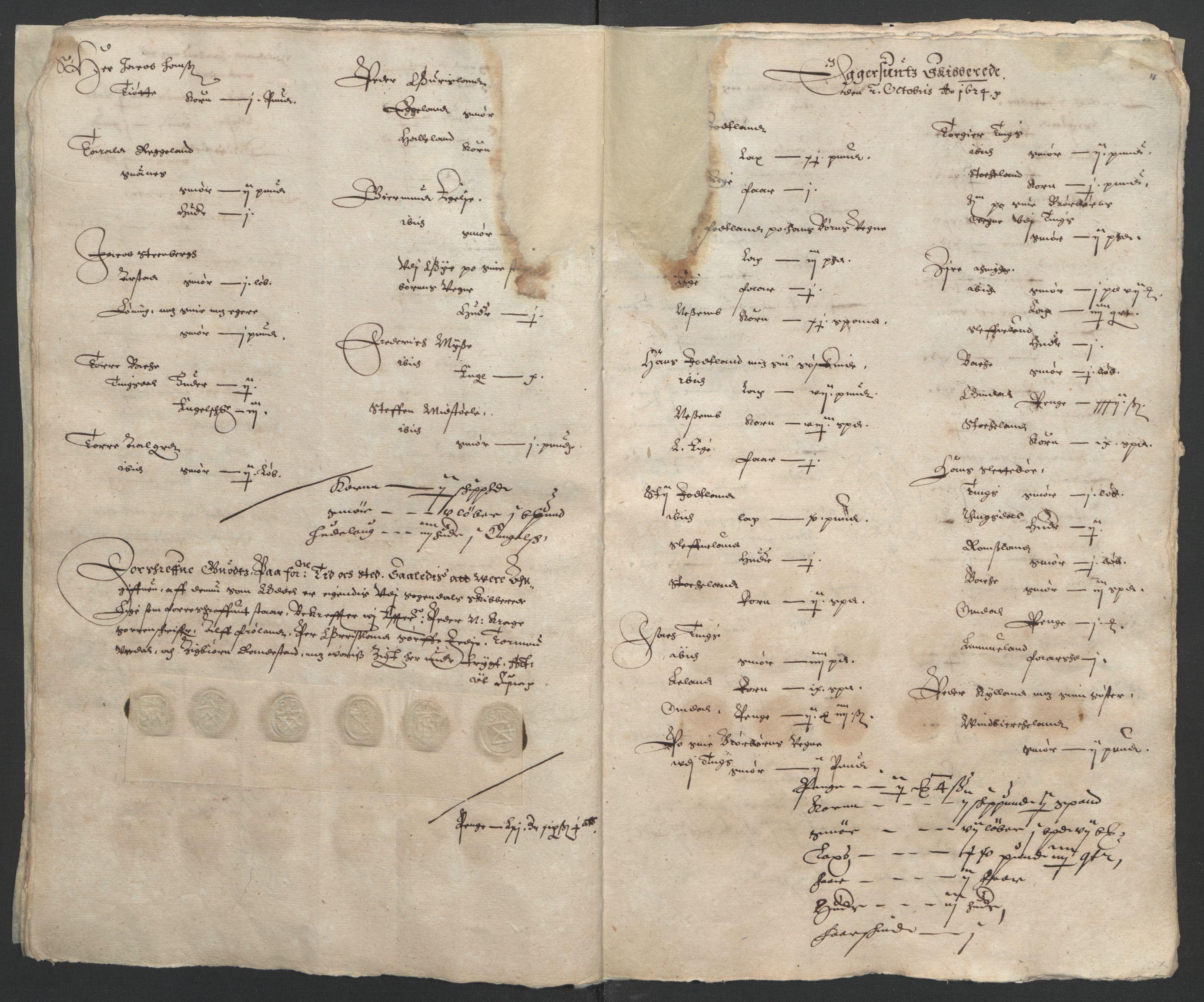 RA, Stattholderembetet 1572-1771, Ek/L0010: Jordebøker til utlikning av rosstjeneste 1624-1626:, 1624-1626, s. 45