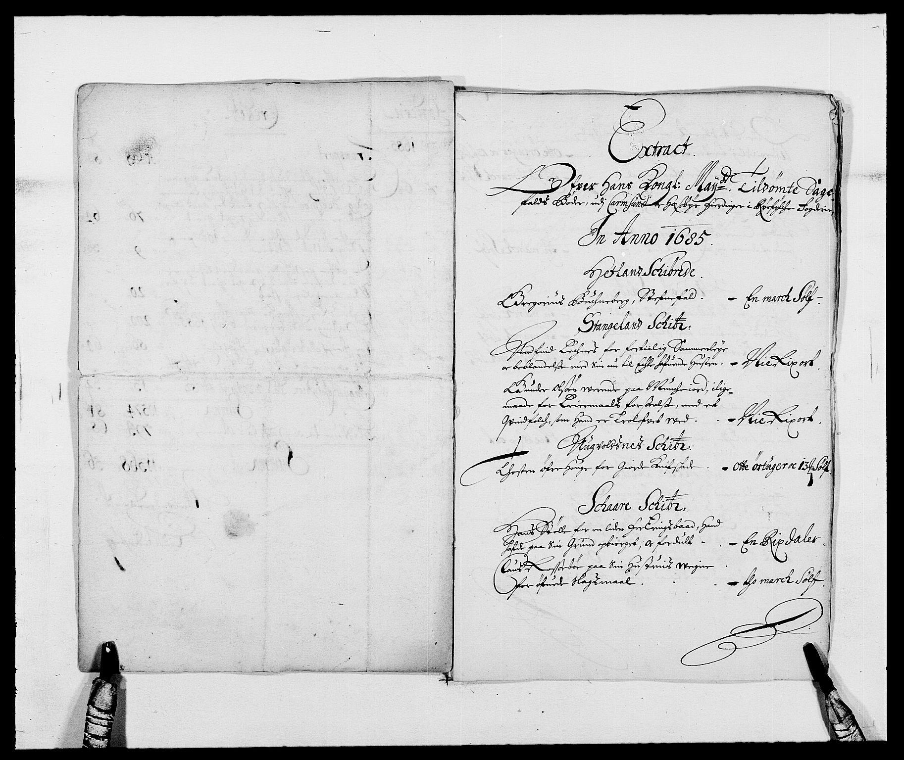 RA, Rentekammeret inntil 1814, Reviderte regnskaper, Fogderegnskap, R47/L2855: Fogderegnskap Ryfylke, 1685-1688, s. 6