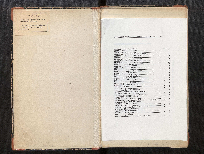 SAB, Lensmannen i Innvik, 0006/L0005: Dødsfallprotokoll, 1921-1932