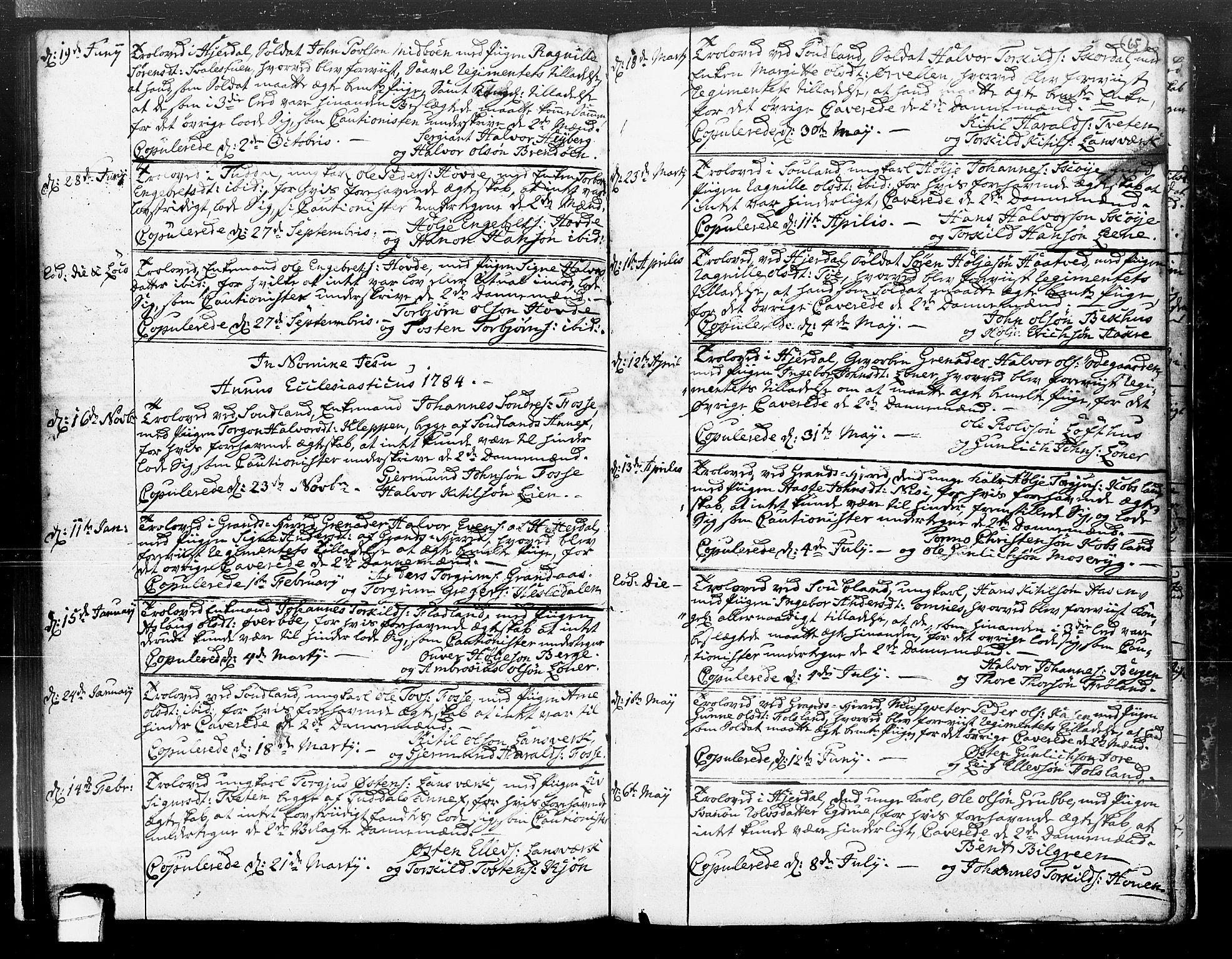 SAKO, Hjartdal kirkebøker, F/Fa/L0004: Ministerialbok nr. I 4, 1727-1795, s. 65