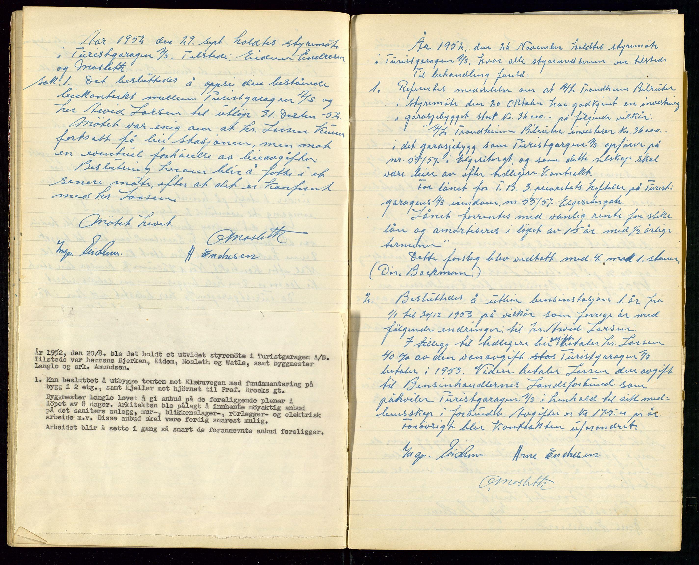 SAST, PA 1515 - Turistgarasjen A/S, A/L0001: Forhandlingsprotokoll, 1937-1958, s. 29