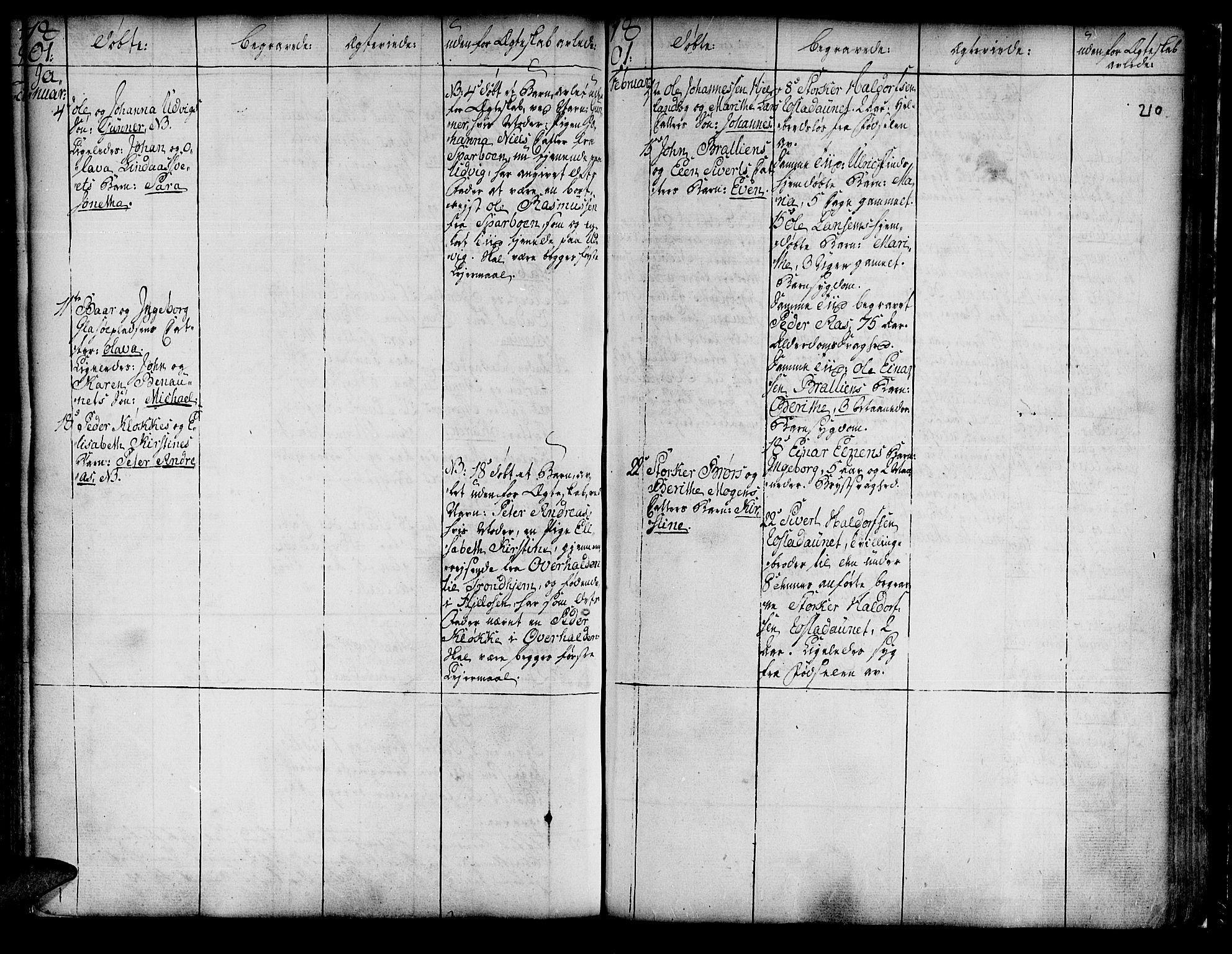 SAT, Ministerialprotokoller, klokkerbøker og fødselsregistre - Nord-Trøndelag, 741/L0385: Ministerialbok nr. 741A01, 1722-1815, s. 210