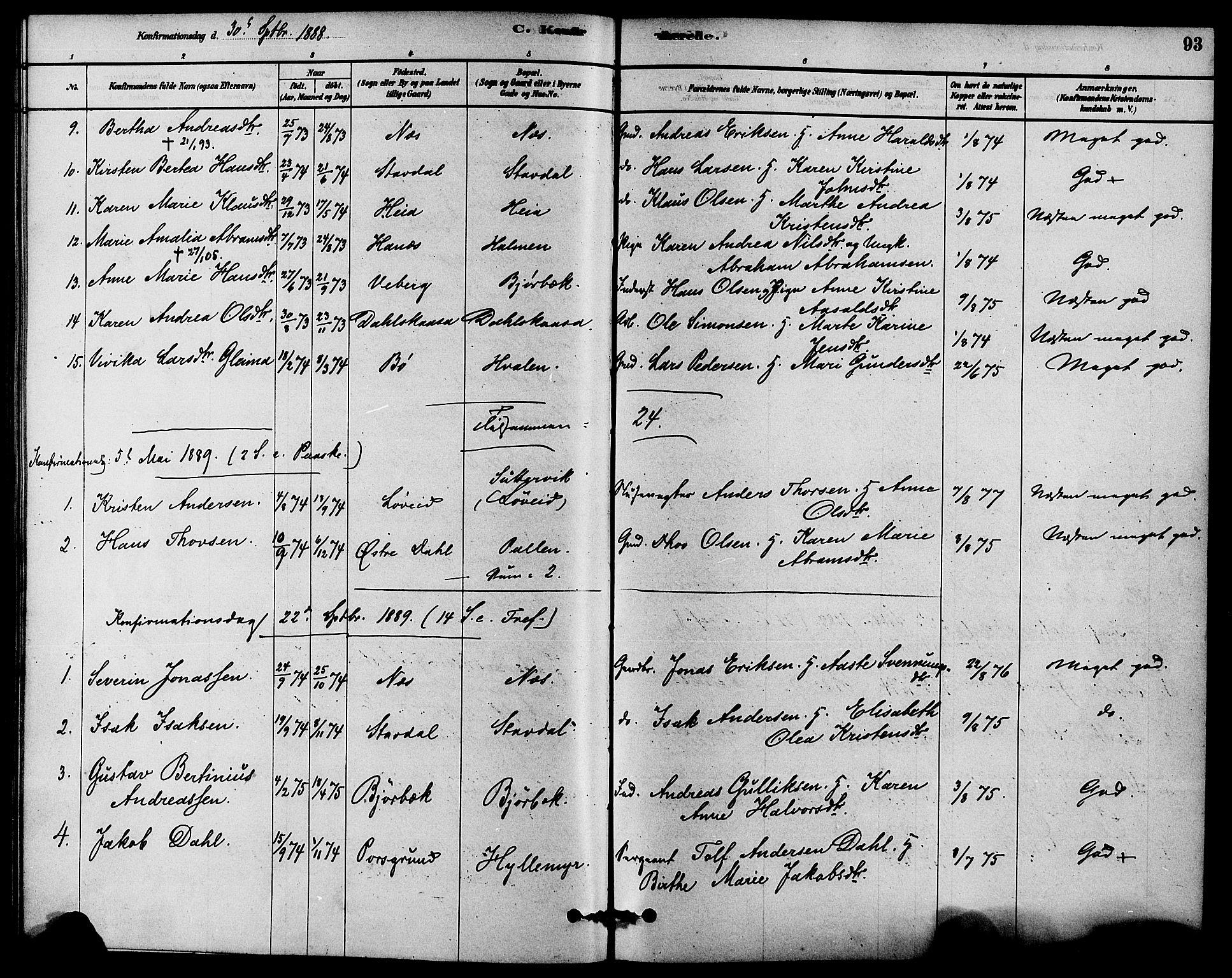 SAKO, Solum kirkebøker, F/Fb/L0001: Ministerialbok nr. II 1, 1877-1892, s. 93