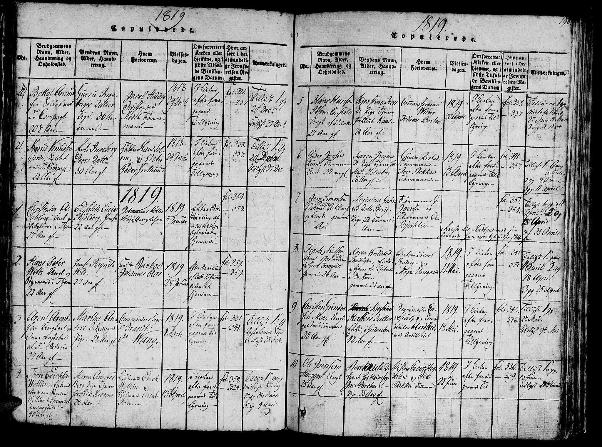 SAT, Ministerialprotokoller, klokkerbøker og fødselsregistre - Sør-Trøndelag, 602/L0135: Klokkerbok nr. 602C03, 1815-1832, s. 193