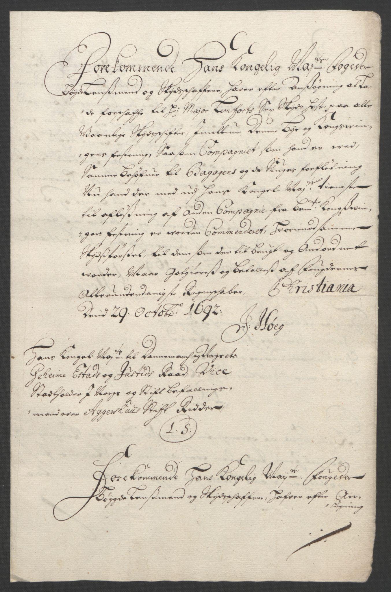 RA, Rentekammeret inntil 1814, Reviderte regnskaper, Fogderegnskap, R11/L0577: Fogderegnskap Nedre Romerike, 1692, s. 321