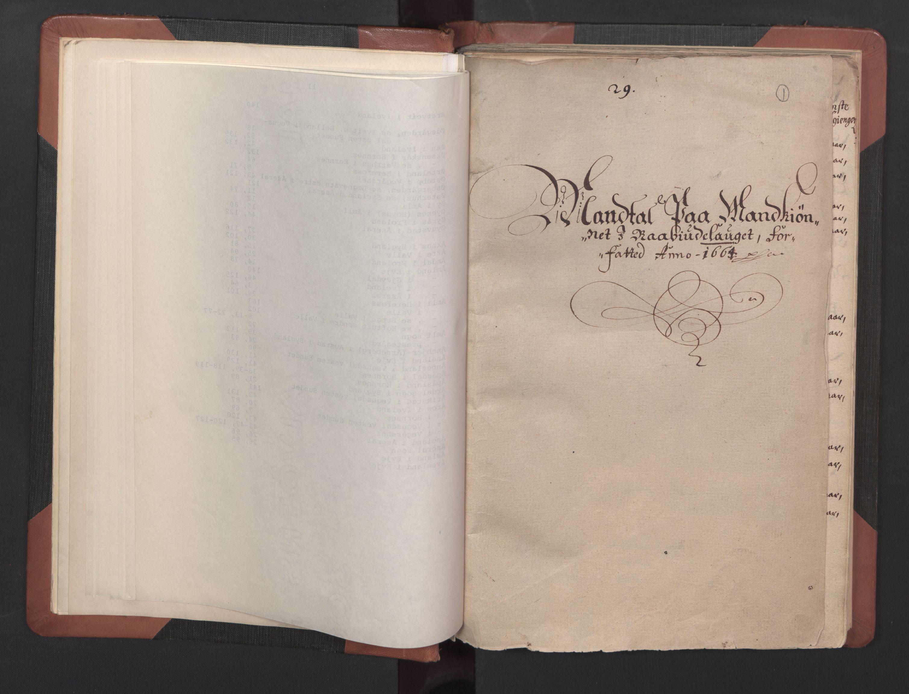 RA, Fogdenes og sorenskrivernes manntall 1664-1666, nr. 8: Råbyggelaget fogderi, 1664-1665, s. 1