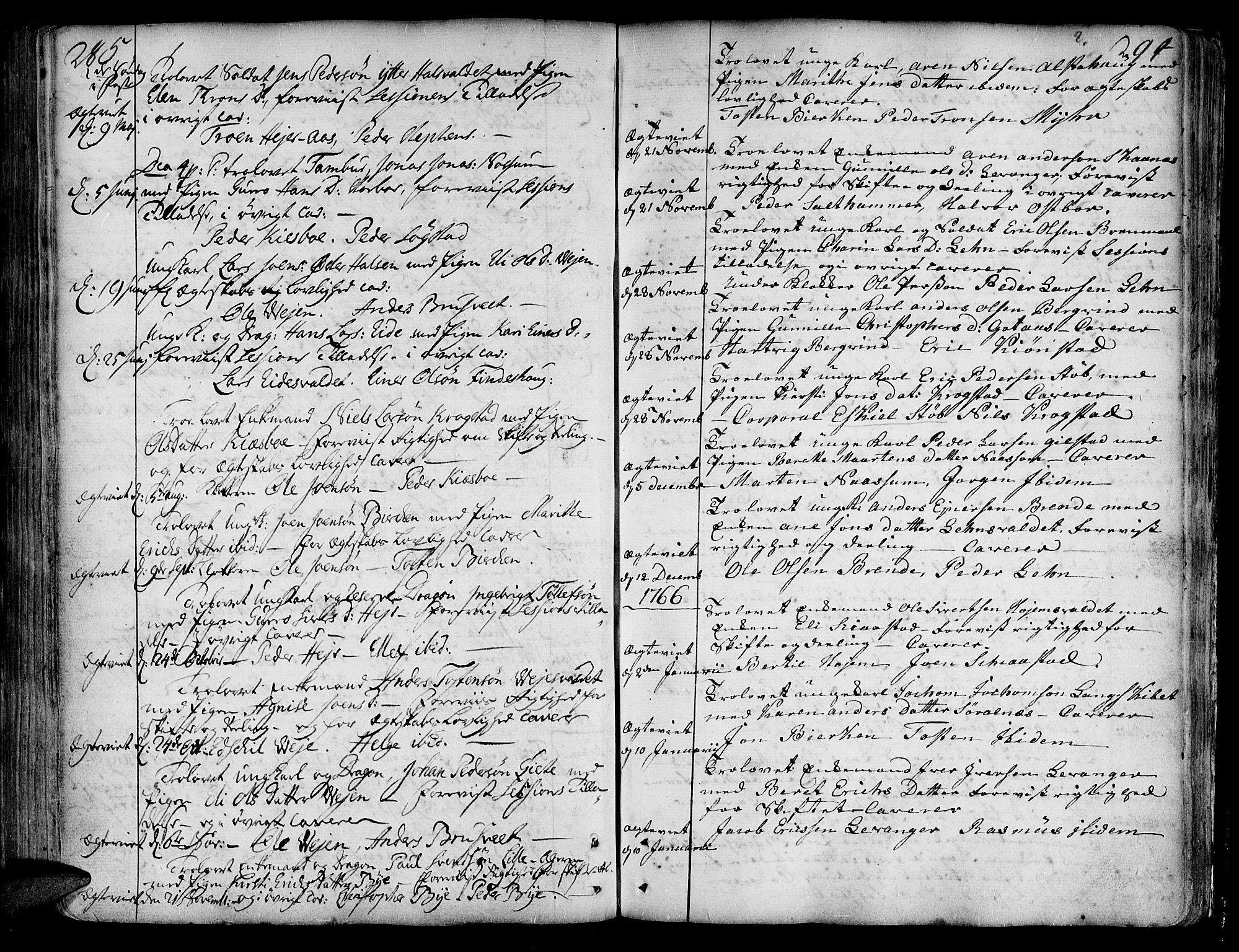 SAT, Ministerialprotokoller, klokkerbøker og fødselsregistre - Nord-Trøndelag, 717/L0141: Ministerialbok nr. 717A01, 1747-1803, s. 285-294