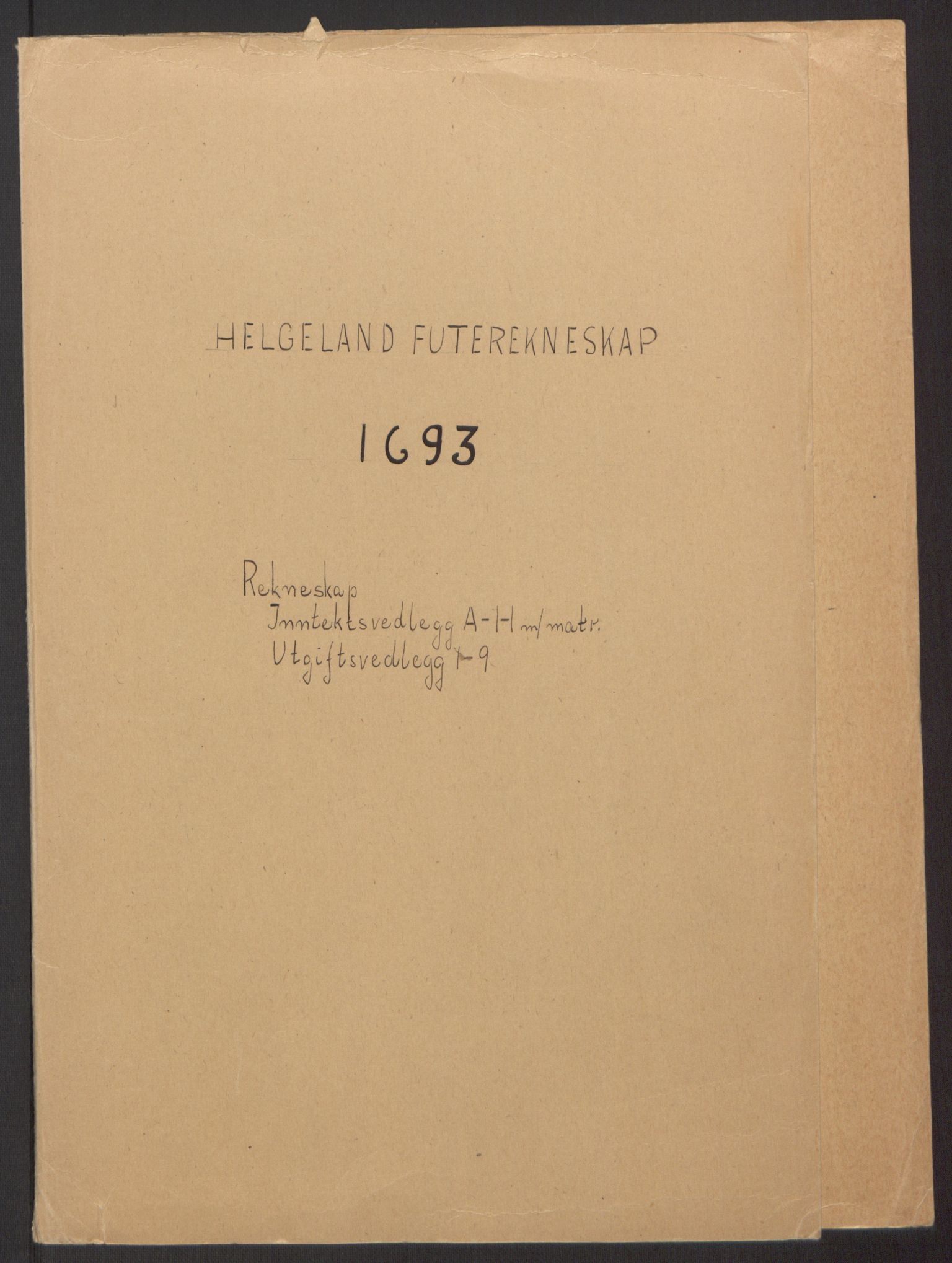 RA, Rentekammeret inntil 1814, Reviderte regnskaper, Fogderegnskap, R65/L4505: Fogderegnskap Helgeland, 1693-1696, s. 2