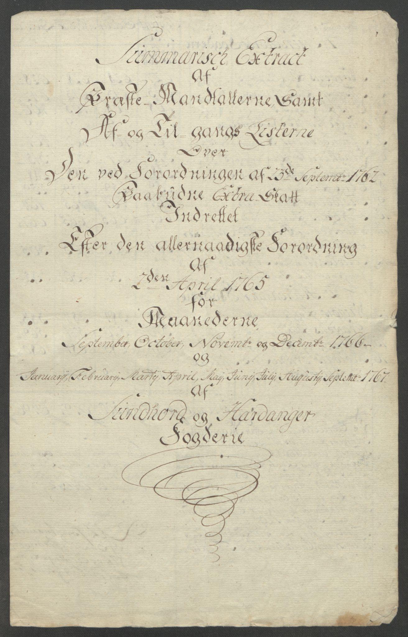 RA, Rentekammeret inntil 1814, Reviderte regnskaper, Fogderegnskap, R48/L3136: Ekstraskatten Sunnhordland og Hardanger, 1762-1772, s. 148