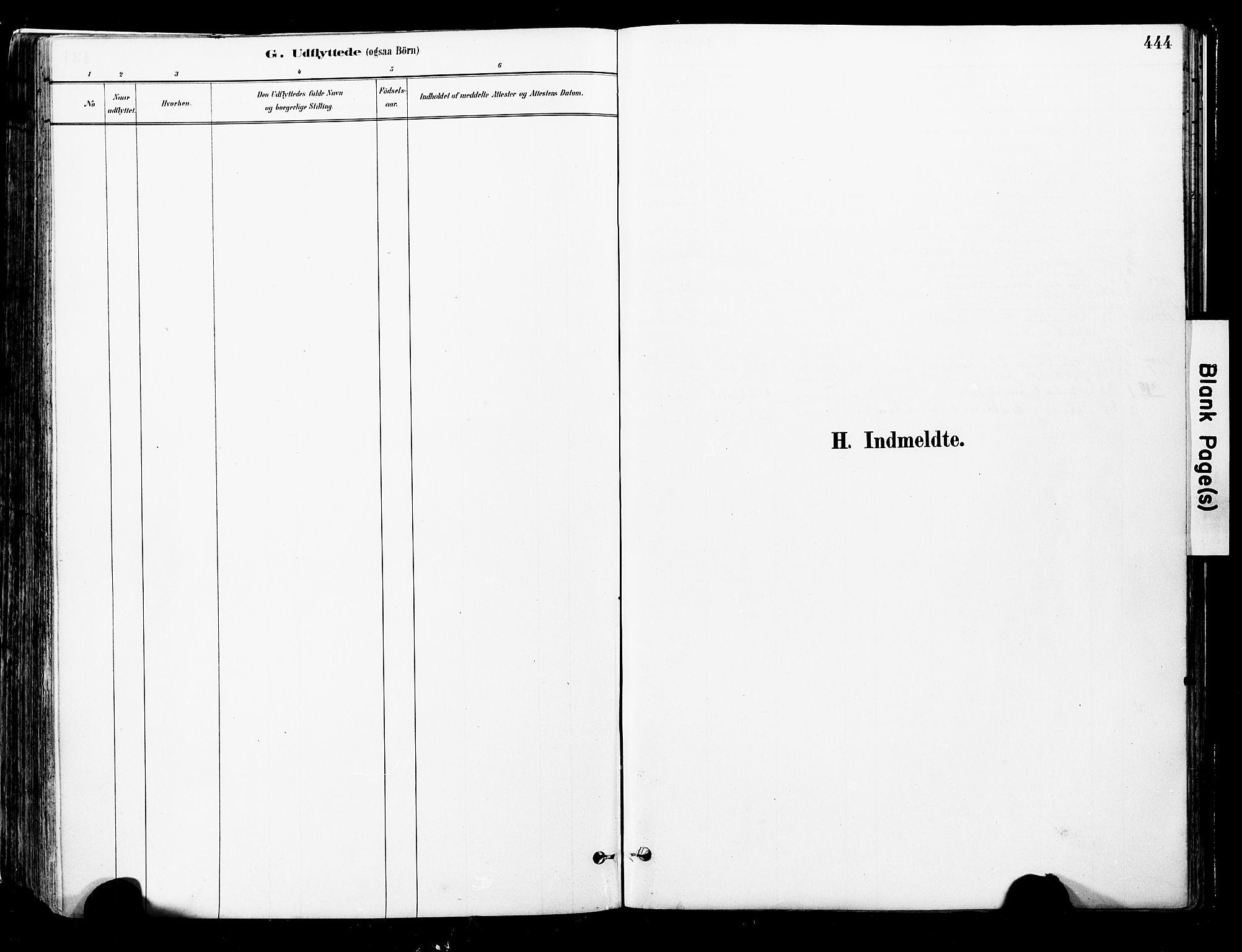 SAT, Ministerialprotokoller, klokkerbøker og fødselsregistre - Nord-Trøndelag, 723/L0244: Ministerialbok nr. 723A13, 1881-1899, s. 444