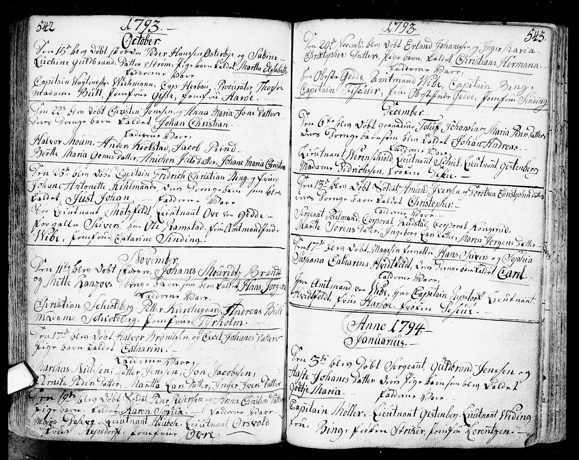 SAO, Fredrikstad prestekontor Kirkebøker, F/Fa/L0002: Ministerialbok nr. 2, 1750-1804, s. 542-543