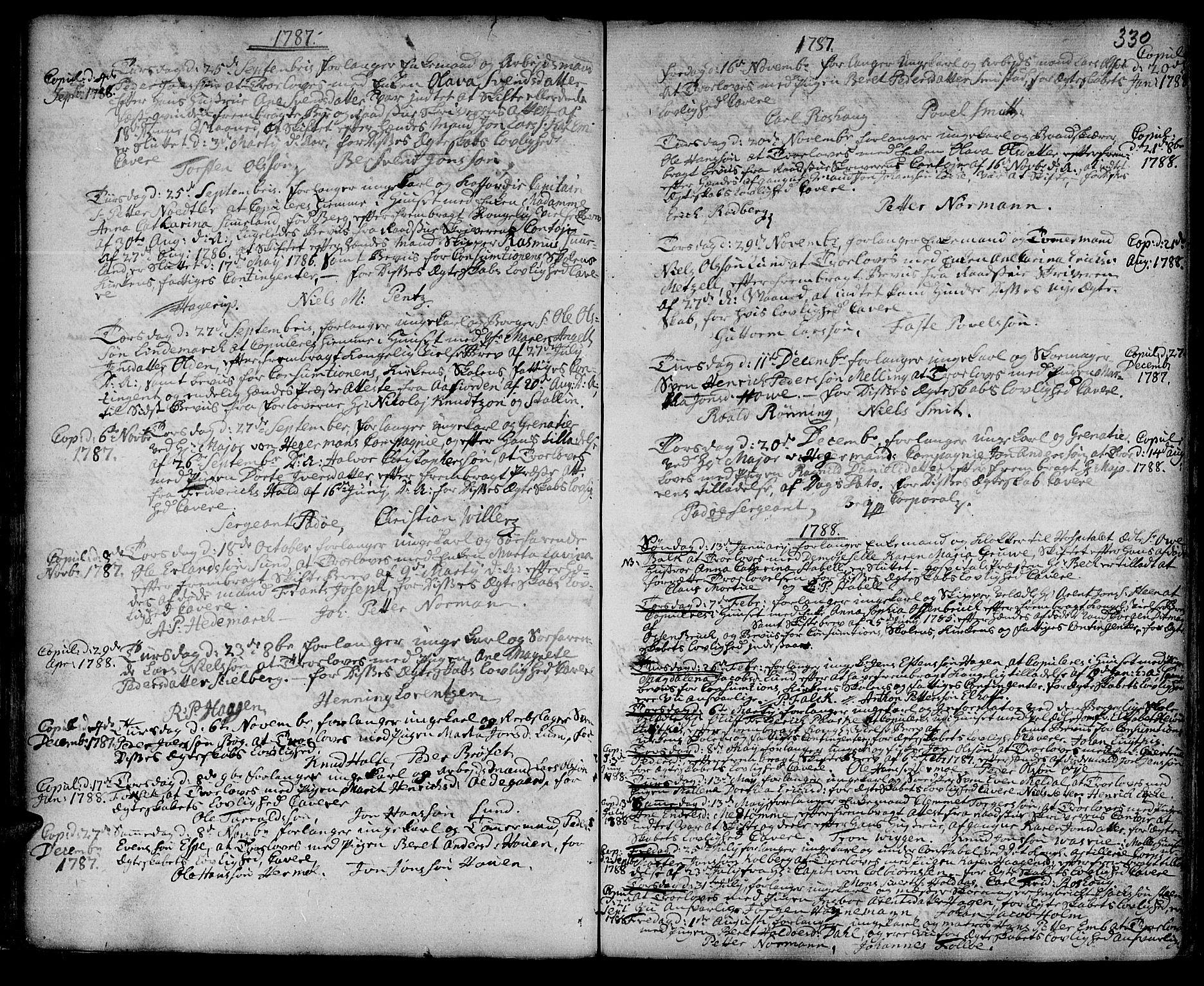 SAT, Ministerialprotokoller, klokkerbøker og fødselsregistre - Sør-Trøndelag, 601/L0038: Ministerialbok nr. 601A06, 1766-1877, s. 330