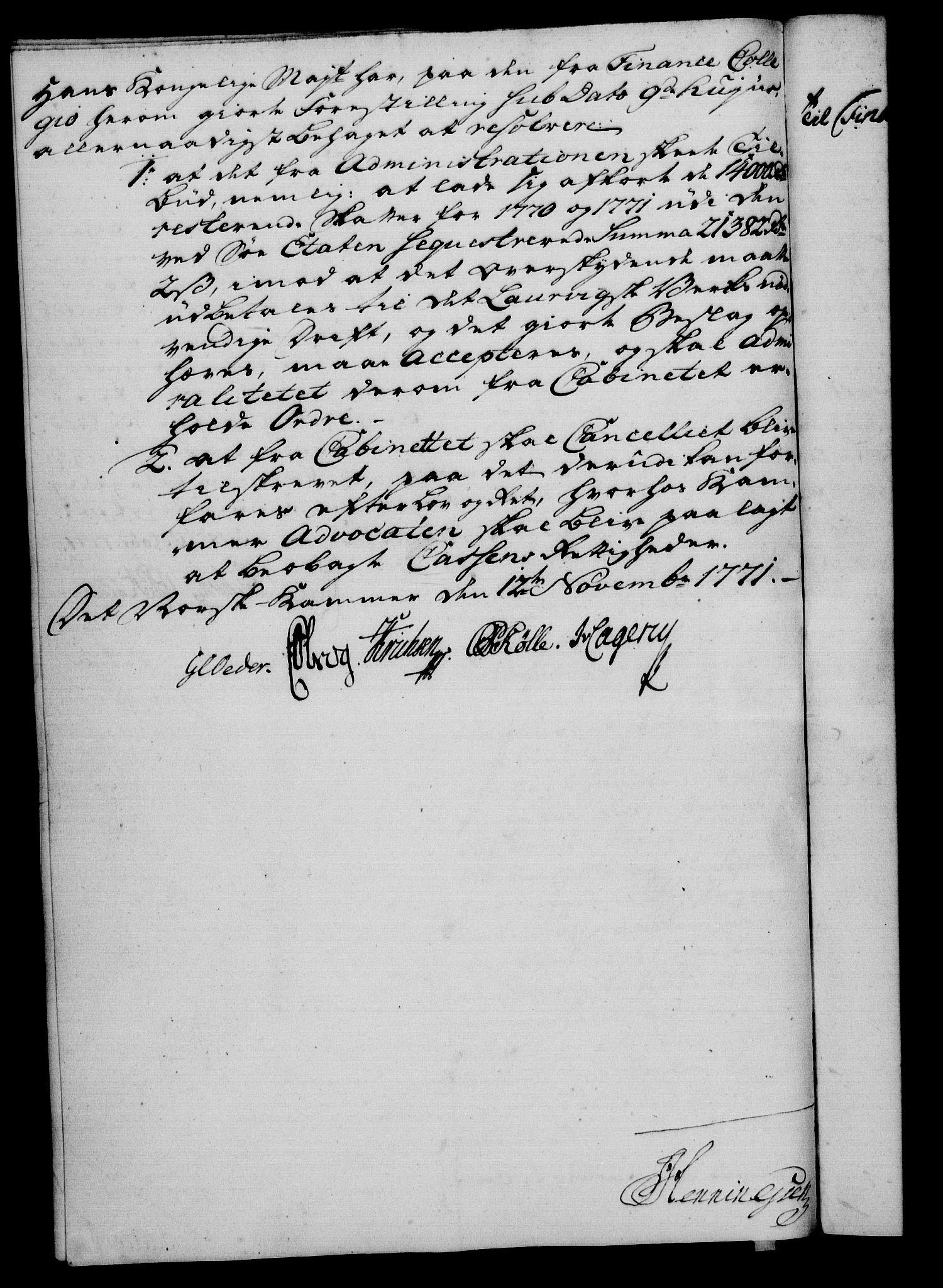 RA, Rentekammeret, Kammerkanselliet, G/Gf/Gfa/L0054: Norsk relasjons- og resolusjonsprotokoll (merket RK 52.54), 1771-1772, s. 176