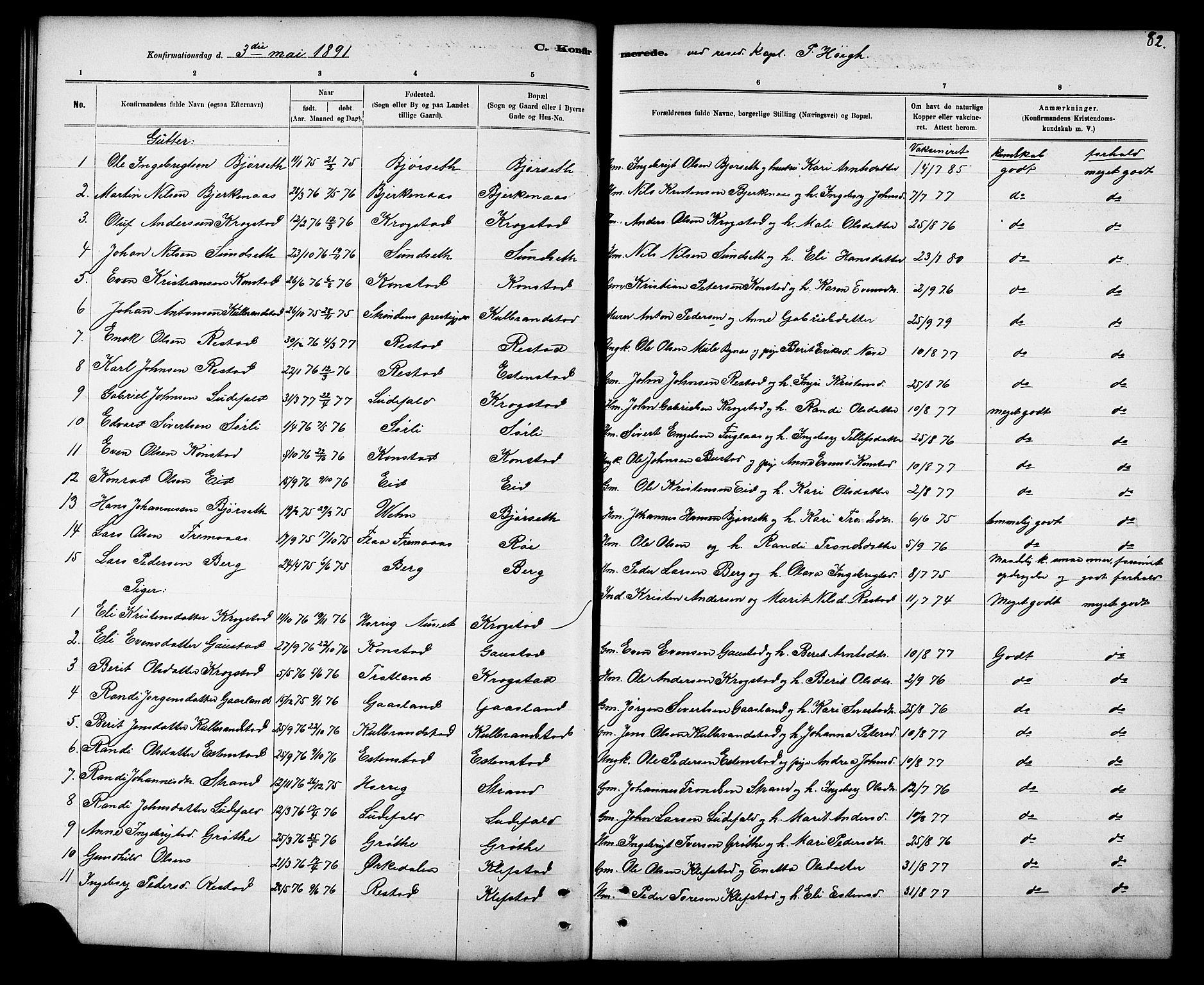SAT, Ministerialprotokoller, klokkerbøker og fødselsregistre - Sør-Trøndelag, 694/L1132: Klokkerbok nr. 694C04, 1887-1914, s. 82