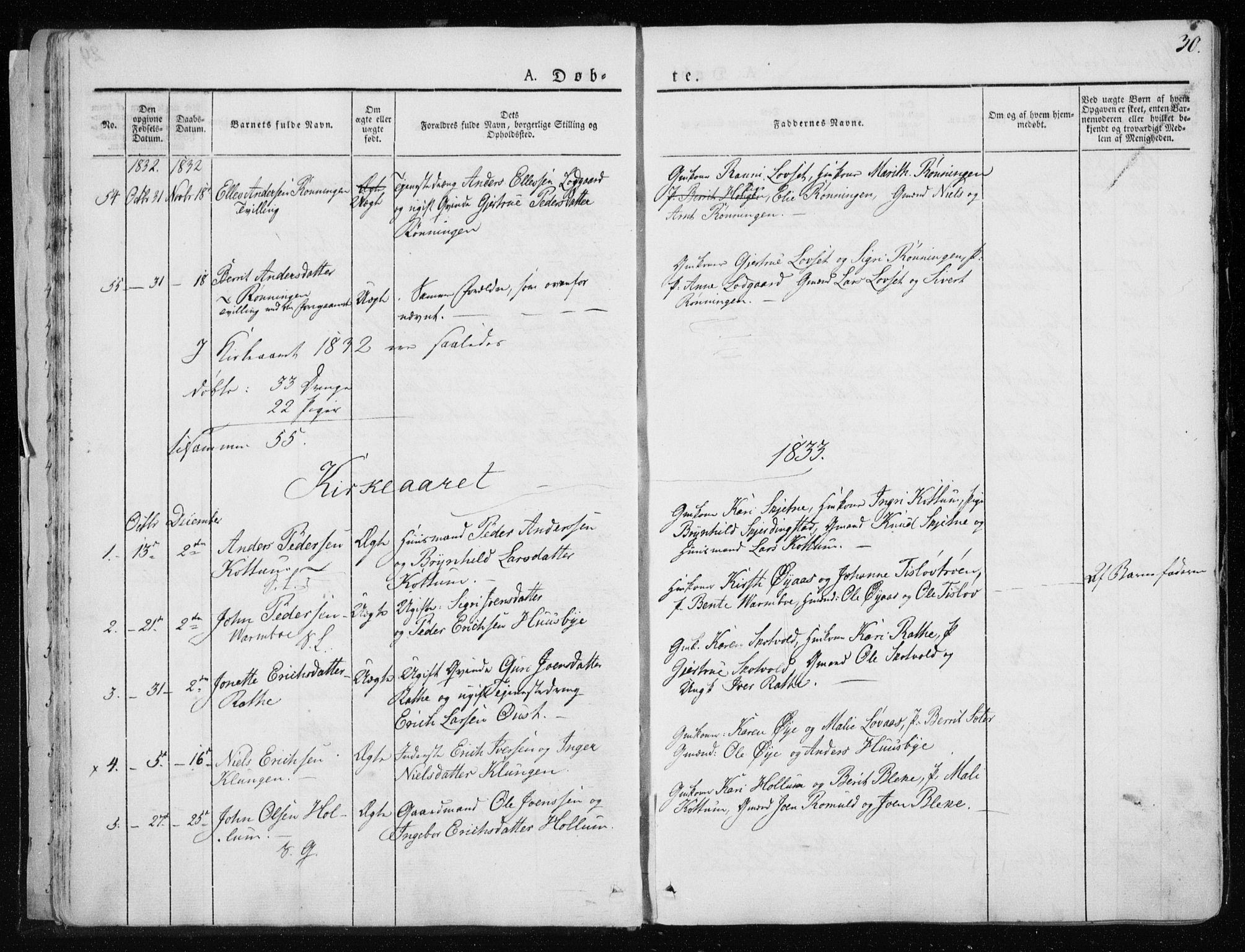 SAT, Ministerialprotokoller, klokkerbøker og fødselsregistre - Sør-Trøndelag, 691/L1069: Ministerialbok nr. 691A04, 1826-1841, s. 30