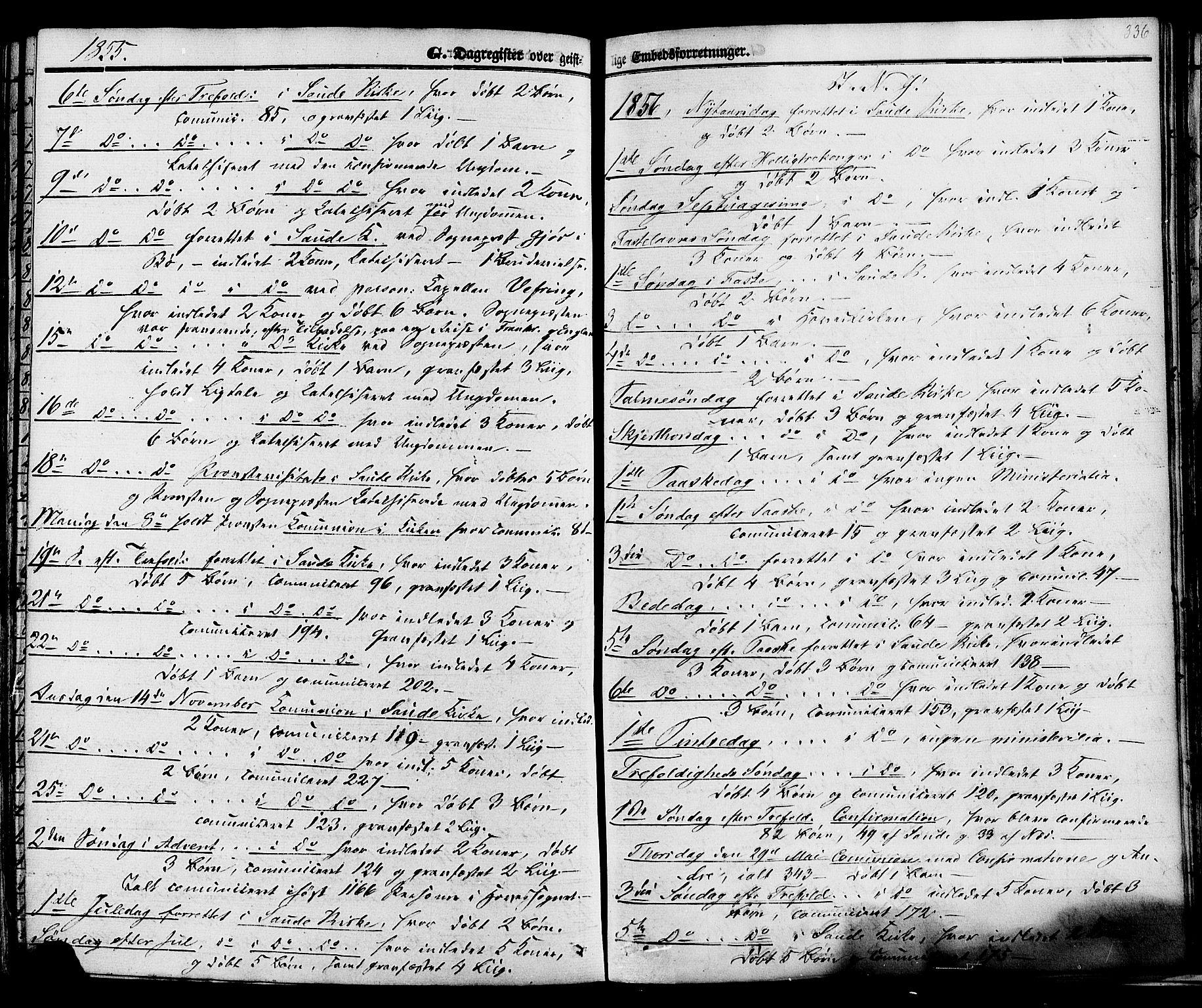 SAKO, Sauherad kirkebøker, F/Fa/L0007: Ministerialbok nr. I 7, 1851-1873, s. 336