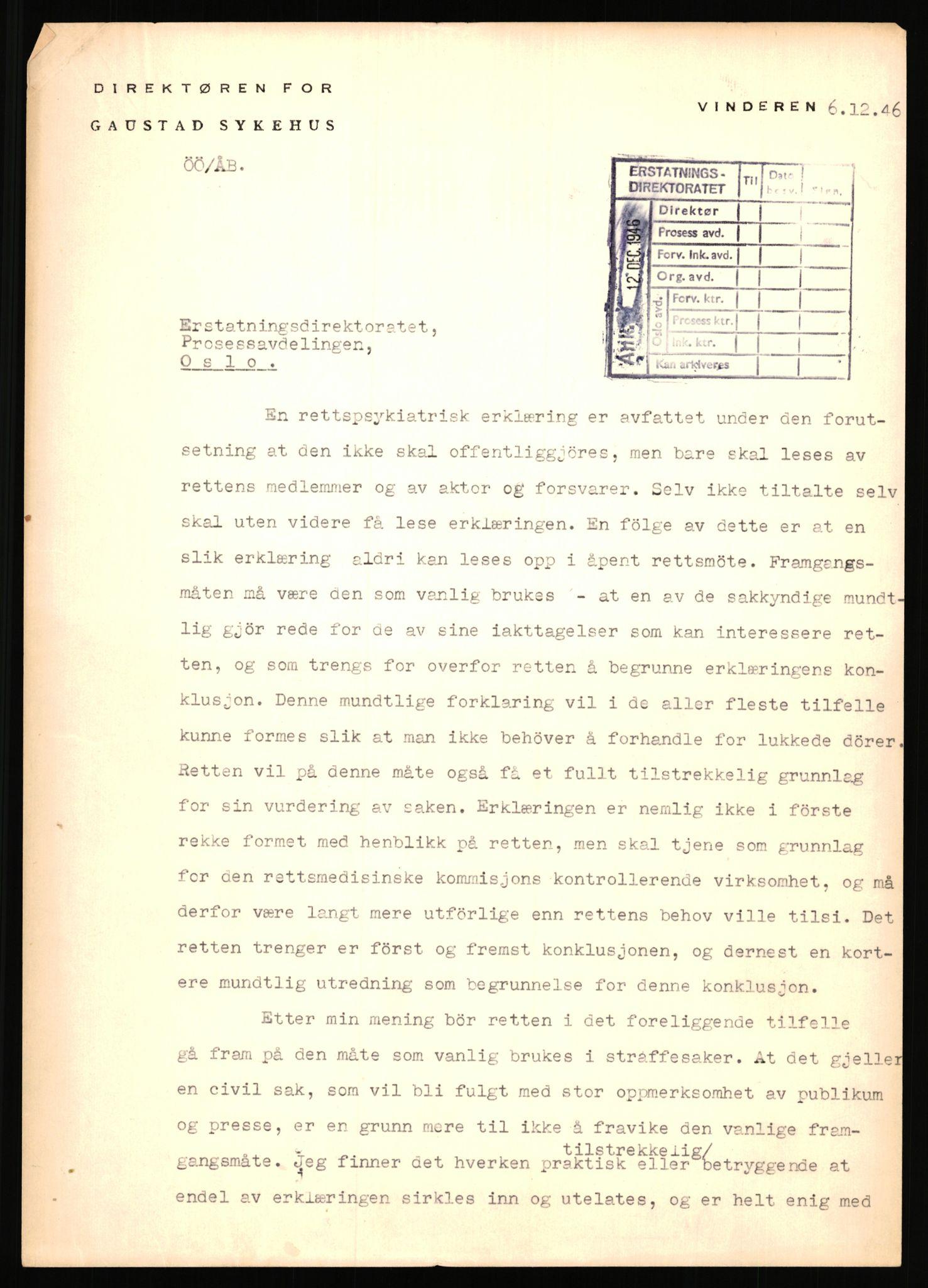 RA, Landssvikarkivet, Arendal politikammer, D/Dc/L0029: Anr. 192/45, 1945-1951, s. 1066