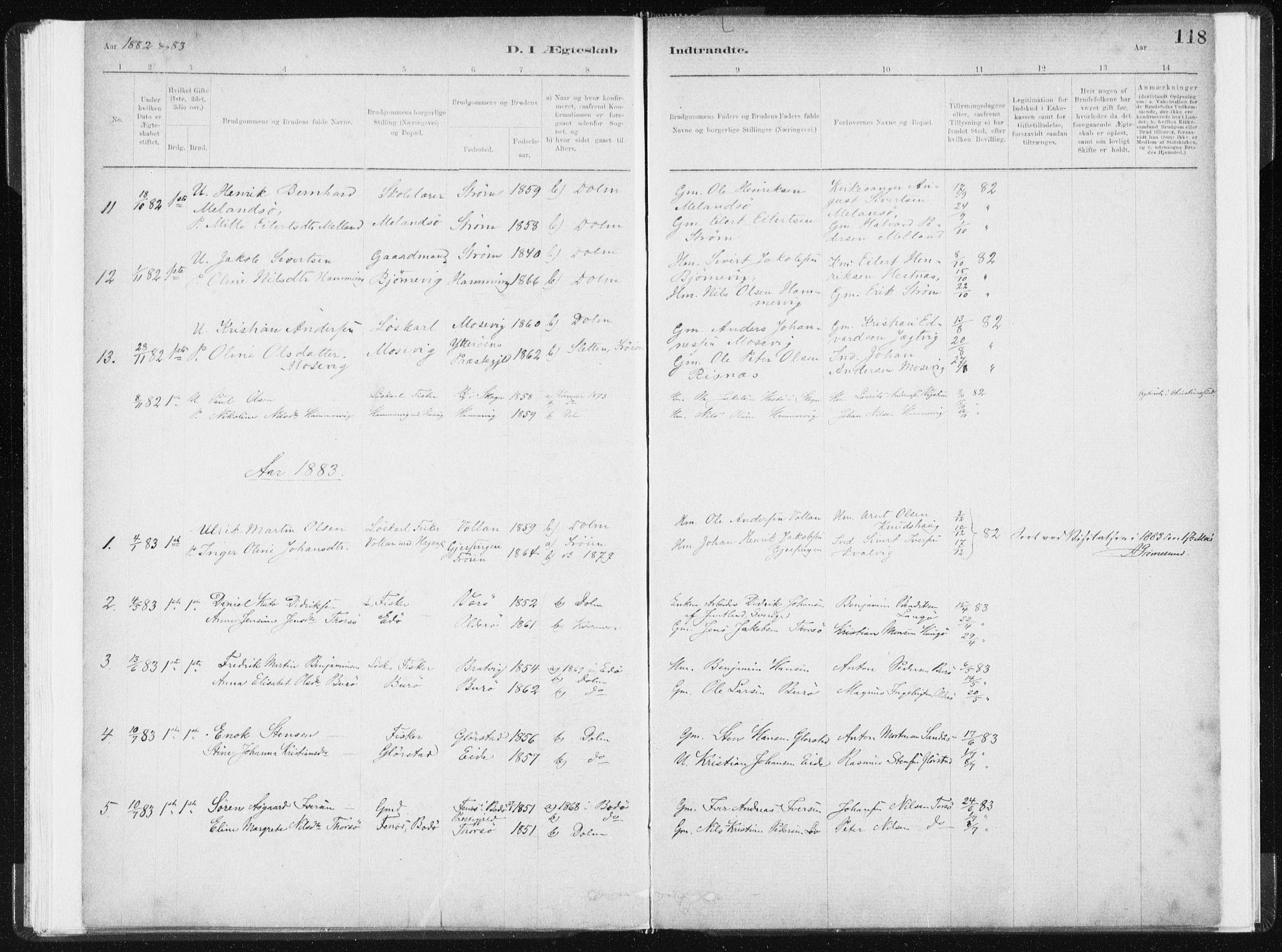 SAT, Ministerialprotokoller, klokkerbøker og fødselsregistre - Sør-Trøndelag, 634/L0533: Ministerialbok nr. 634A09, 1882-1901, s. 118