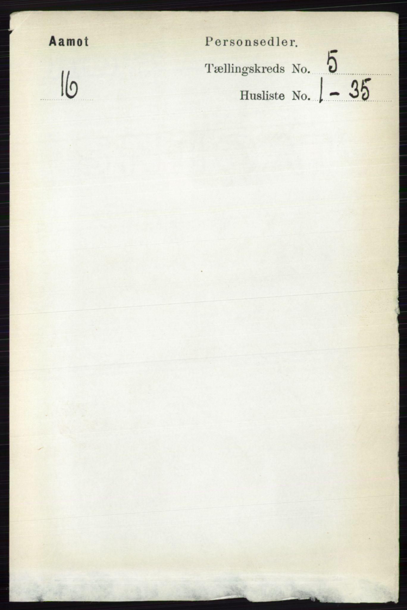 RA, Folketelling 1891 for 0429 Åmot herred, 1891, s. 2323