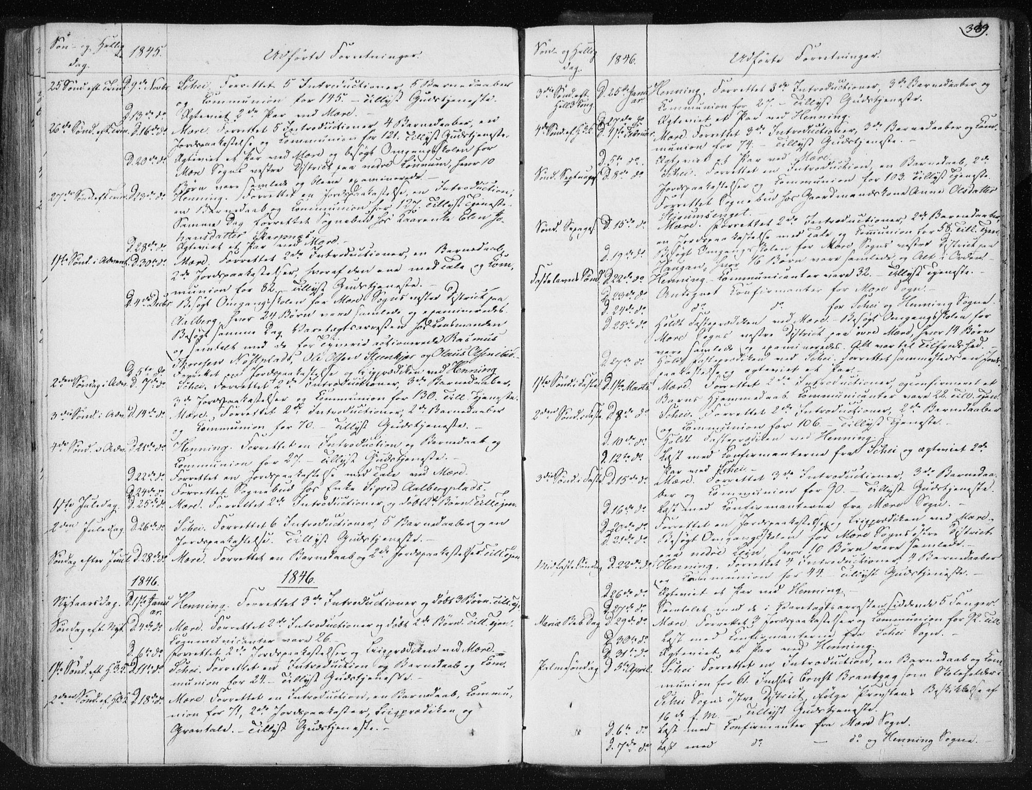 SAT, Ministerialprotokoller, klokkerbøker og fødselsregistre - Nord-Trøndelag, 735/L0339: Ministerialbok nr. 735A06 /1, 1836-1848, s. 389