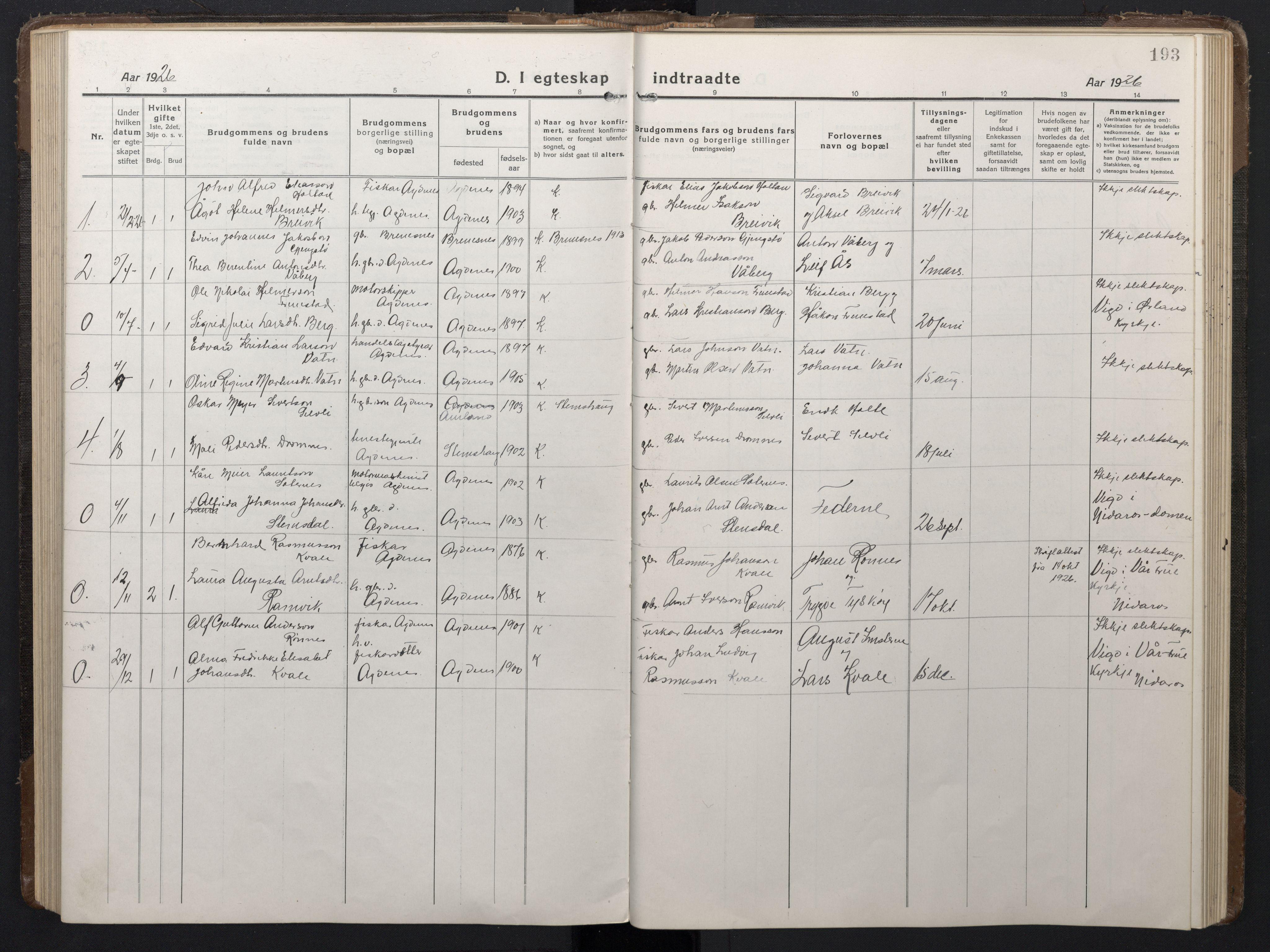 SAT, Ministerialprotokoller, klokkerbøker og fødselsregistre - Sør-Trøndelag, 662/L0758: Klokkerbok nr. 662C03, 1918-1948, s. 193