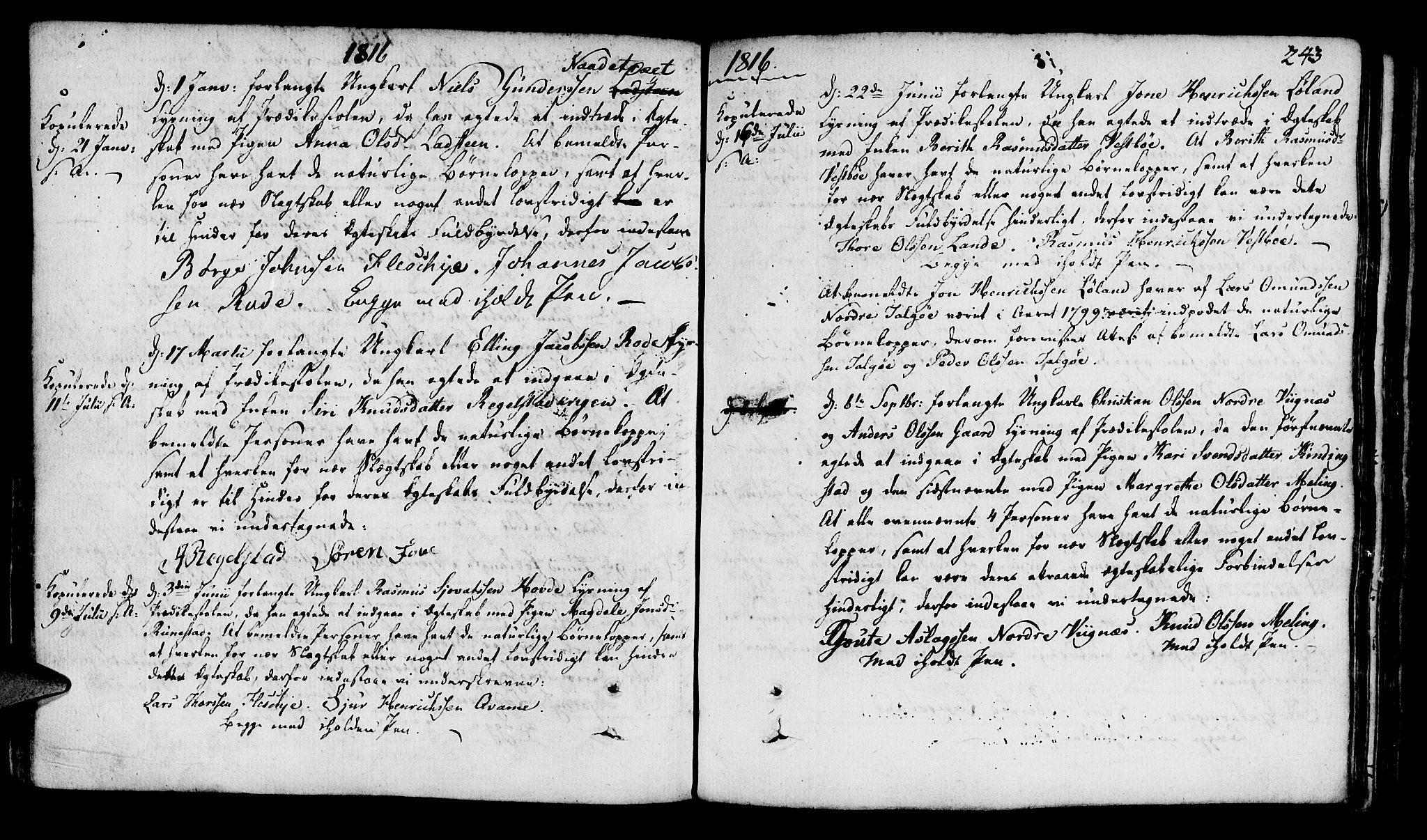 SAST, Finnøy sokneprestkontor, H/Ha/Haa/L0005: Ministerialbok nr. A 5, 1773-1816, s. 243