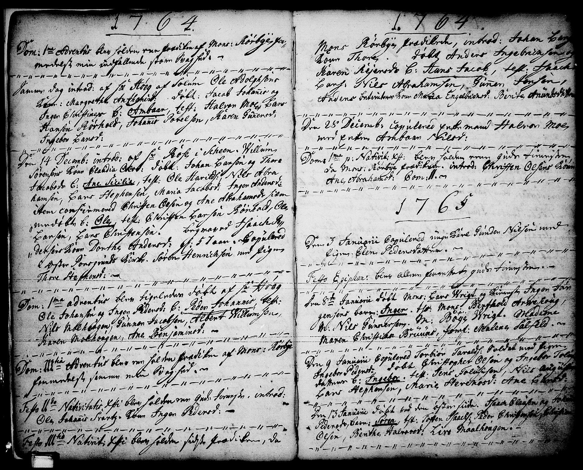 SAKO, Porsgrunn kirkebøker , F/Fa/L0001: Ministerialbok nr. 1, 1764-1814, s. 6-7