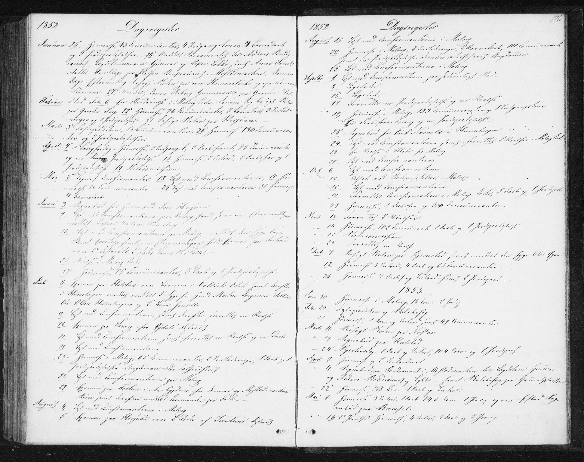 SAT, Ministerialprotokoller, klokkerbøker og fødselsregistre - Sør-Trøndelag, 616/L0407: Ministerialbok nr. 616A04, 1848-1856, s. 176