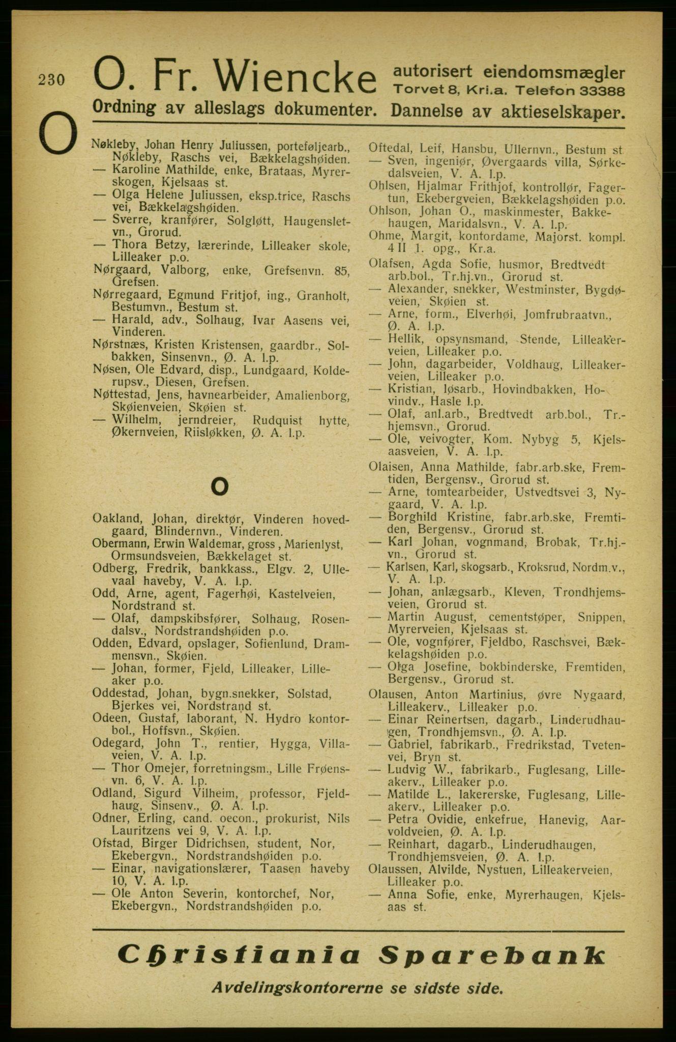 PUBL, Aker adressebok/adressekalender, 1922, s. 230