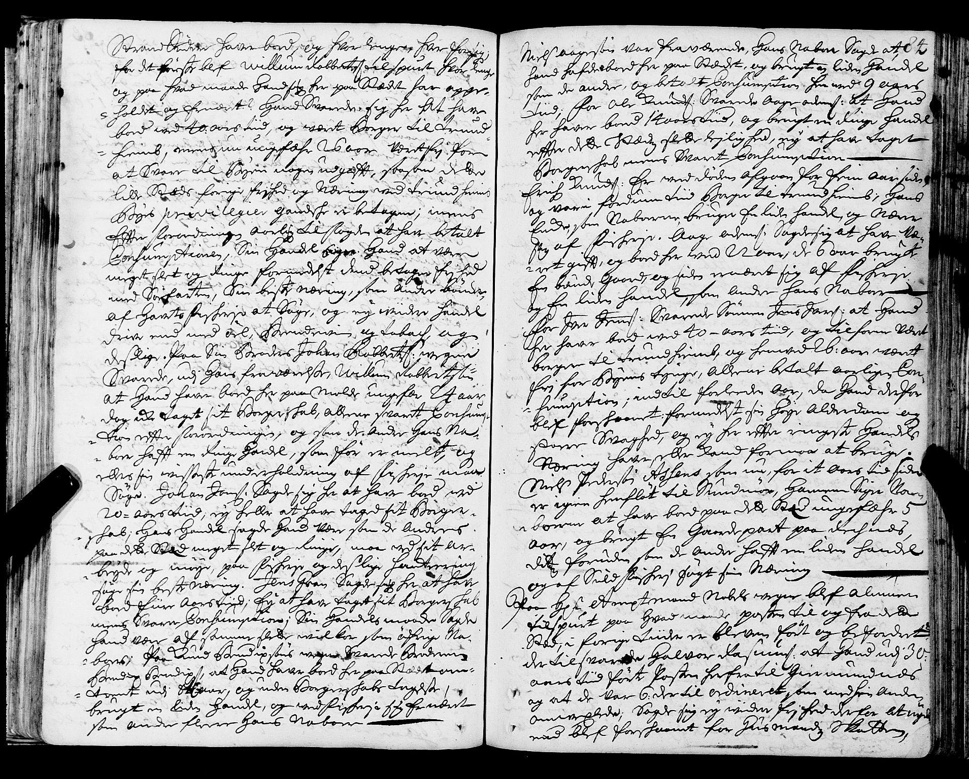 SAT, Romsdal sorenskriveri, 1/1A/L0006: Tingbok, 1707-1711, s. 83b-84a