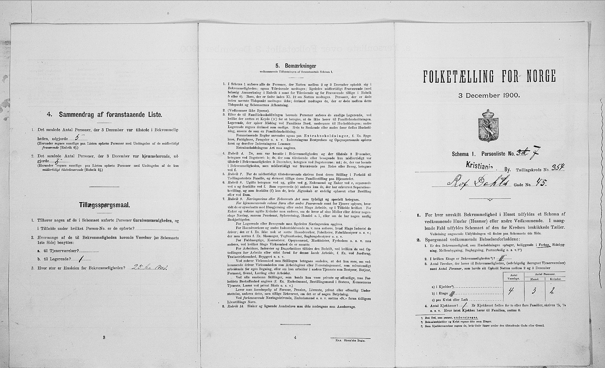 SAO, Folketelling 1900 for 0301 Kristiania kjøpstad, 1900, s. 73379