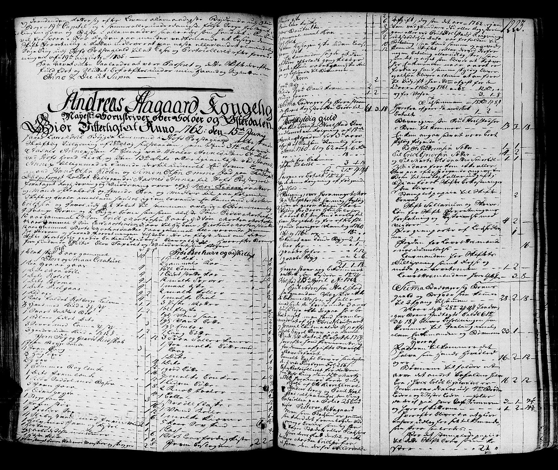 SAH, Solør og Østerdalen sorenskriveri, J/Ja/L0012A: Skifteprotokoll, 1757-1764, s. 1222b-1223a