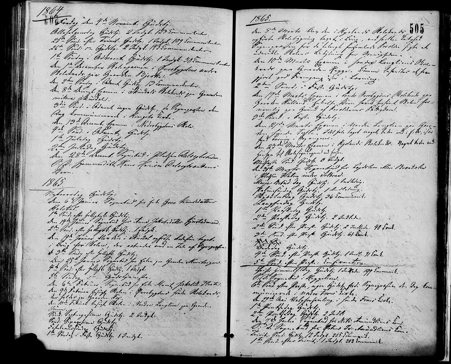 SAH, Sør-Fron prestekontor, H/Ha/Haa/L0002: Ministerialbok nr. 2, 1864-1880, s. 505