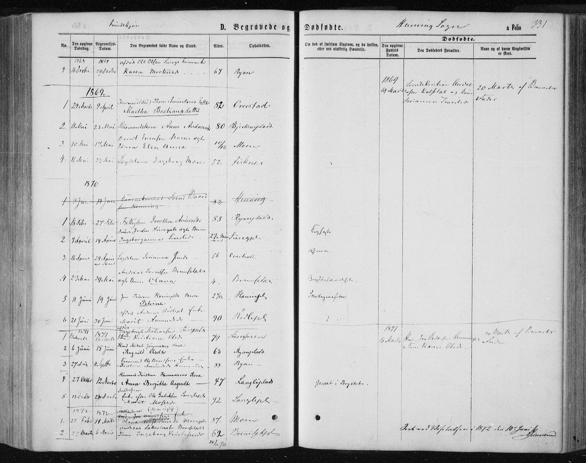 SAT, Ministerialprotokoller, klokkerbøker og fødselsregistre - Nord-Trøndelag, 735/L0345: Ministerialbok nr. 735A08 /3, 1863-1872, s. 331