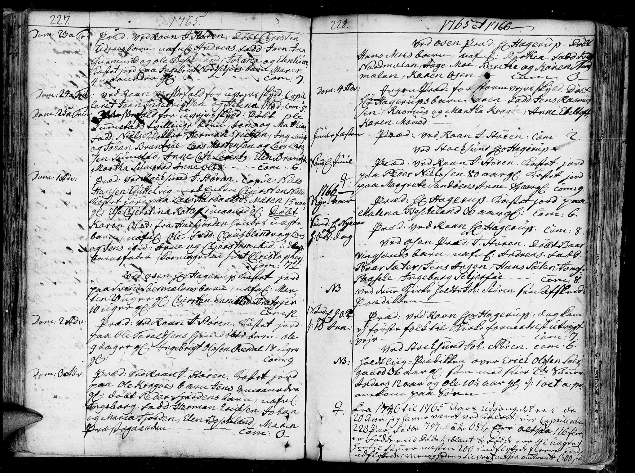 SAT, Ministerialprotokoller, klokkerbøker og fødselsregistre - Sør-Trøndelag, 657/L0700: Ministerialbok nr. 657A01, 1732-1801, s. 227-228