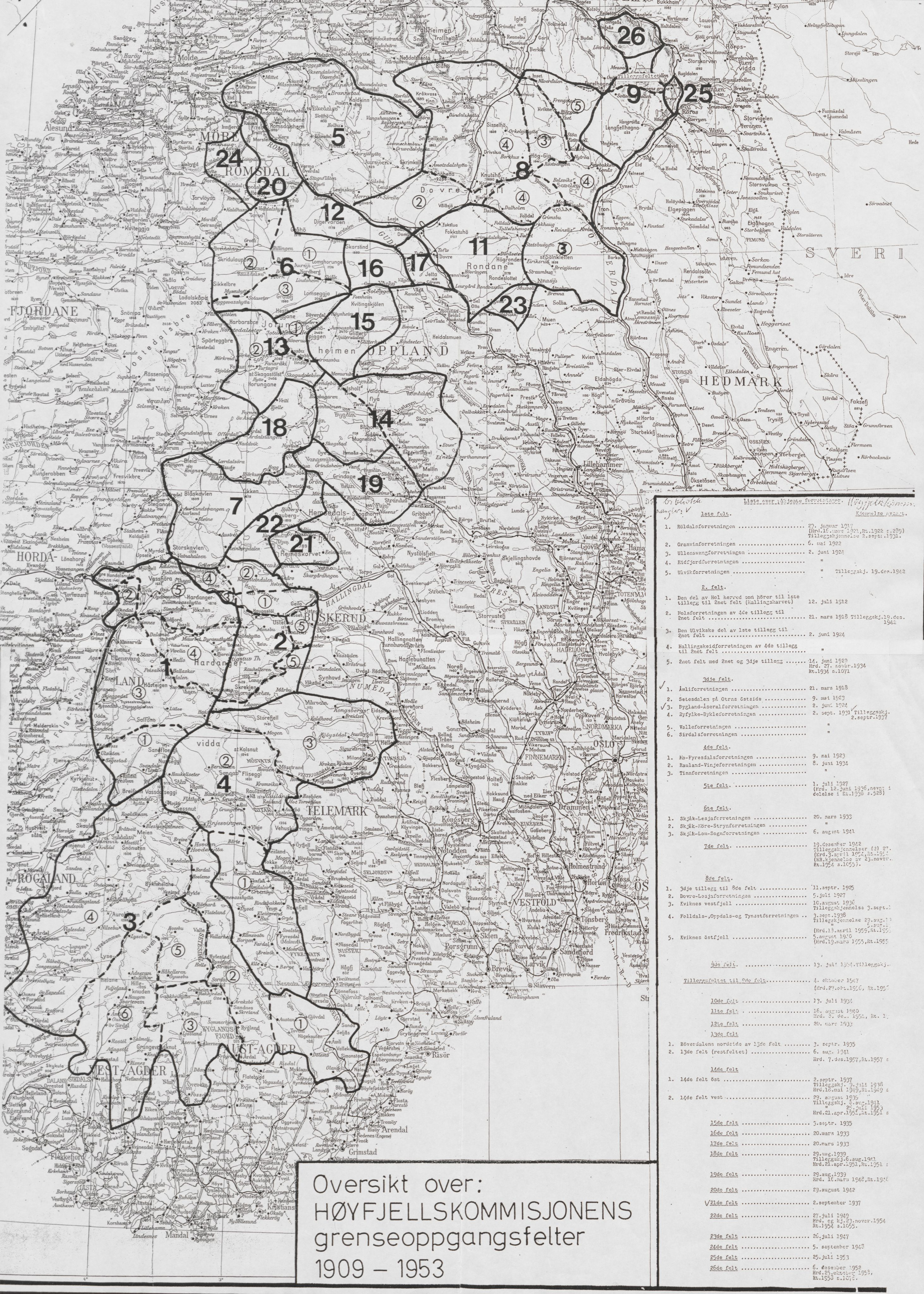 RA, Høyfjellskommisjonen, X/Xa/L0001: Nr. 1-33, 1909-1953, s. 1