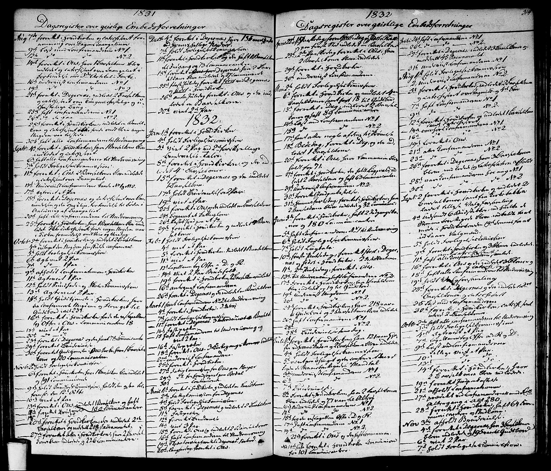 SAO, Rakkestad prestekontor Kirkebøker, F/Fa/L0007: Ministerialbok nr. I 7, 1825-1841, s. 314