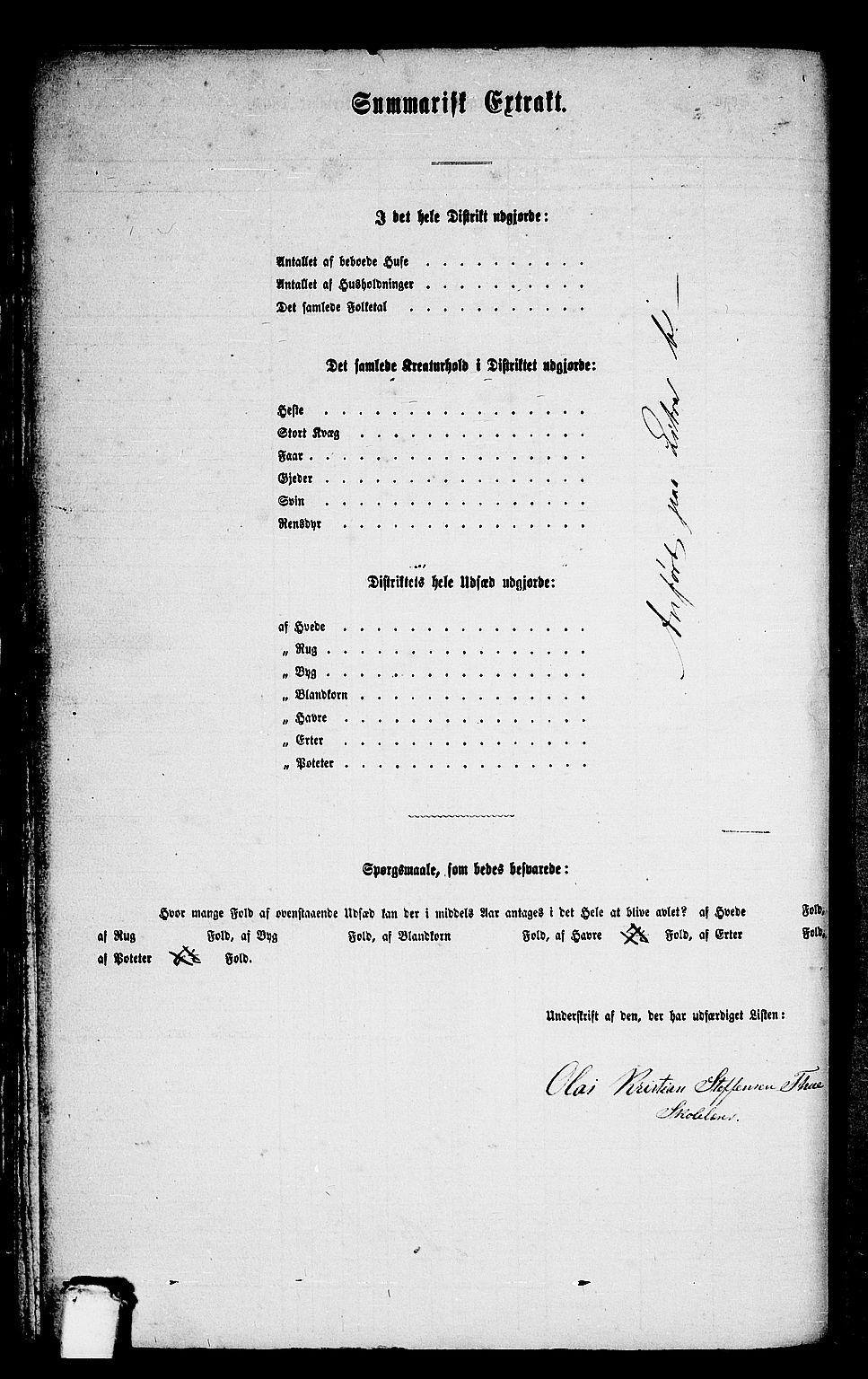RA, Folketelling 1865 for 1511P Vanylven prestegjeld, 1865, s. 67