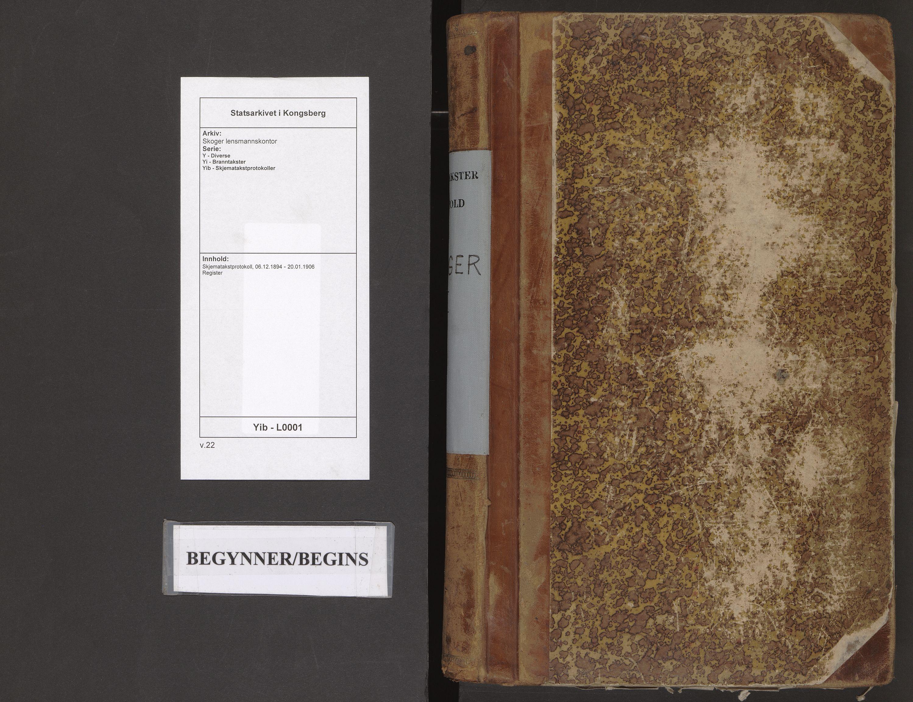 SAKO, Skoger lensmannskontor, Y/Yi/Yib/L0001: Skjematakstprotokoll, 1894-1906